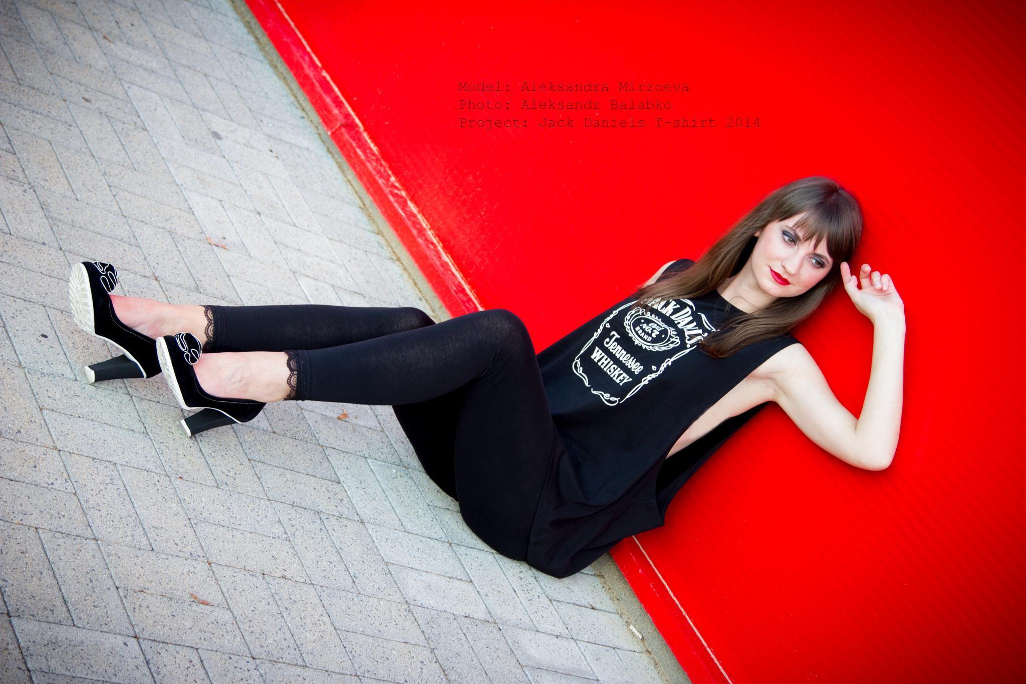Jack Daniels T-Shirt by Alexandr Balabko