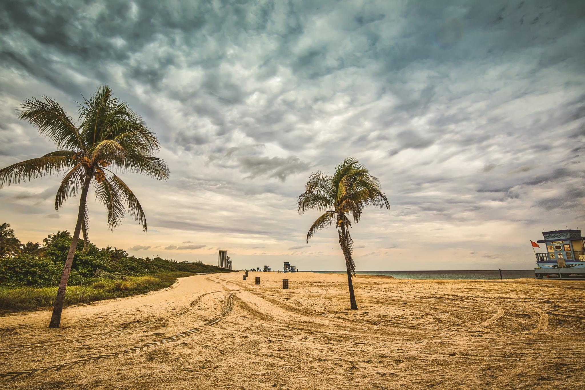 Photo in Landscape #beach #sand #clouds #sea #vacation #florida