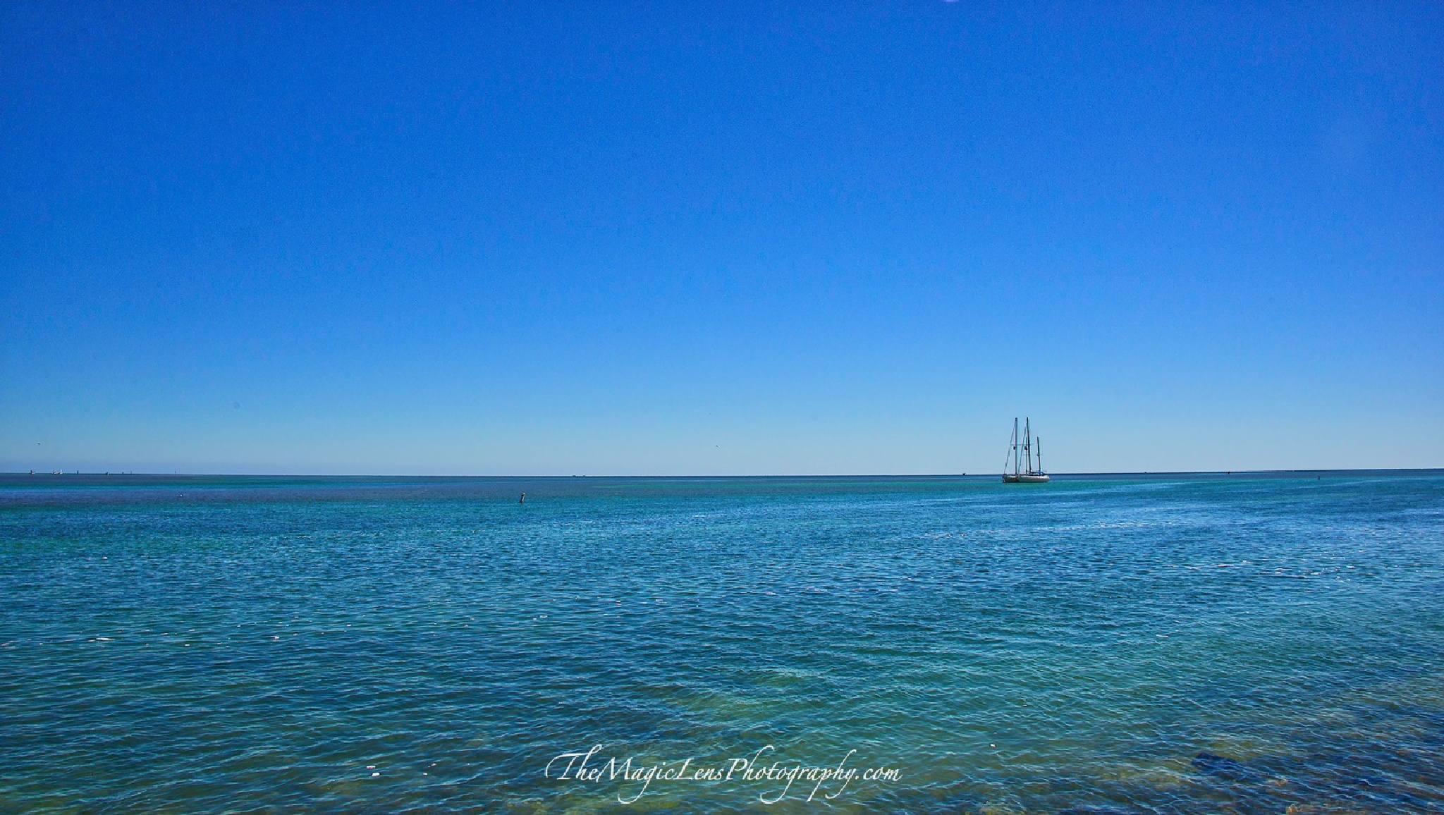 Blue Sea @ Blue Sky by themagiclensphotography