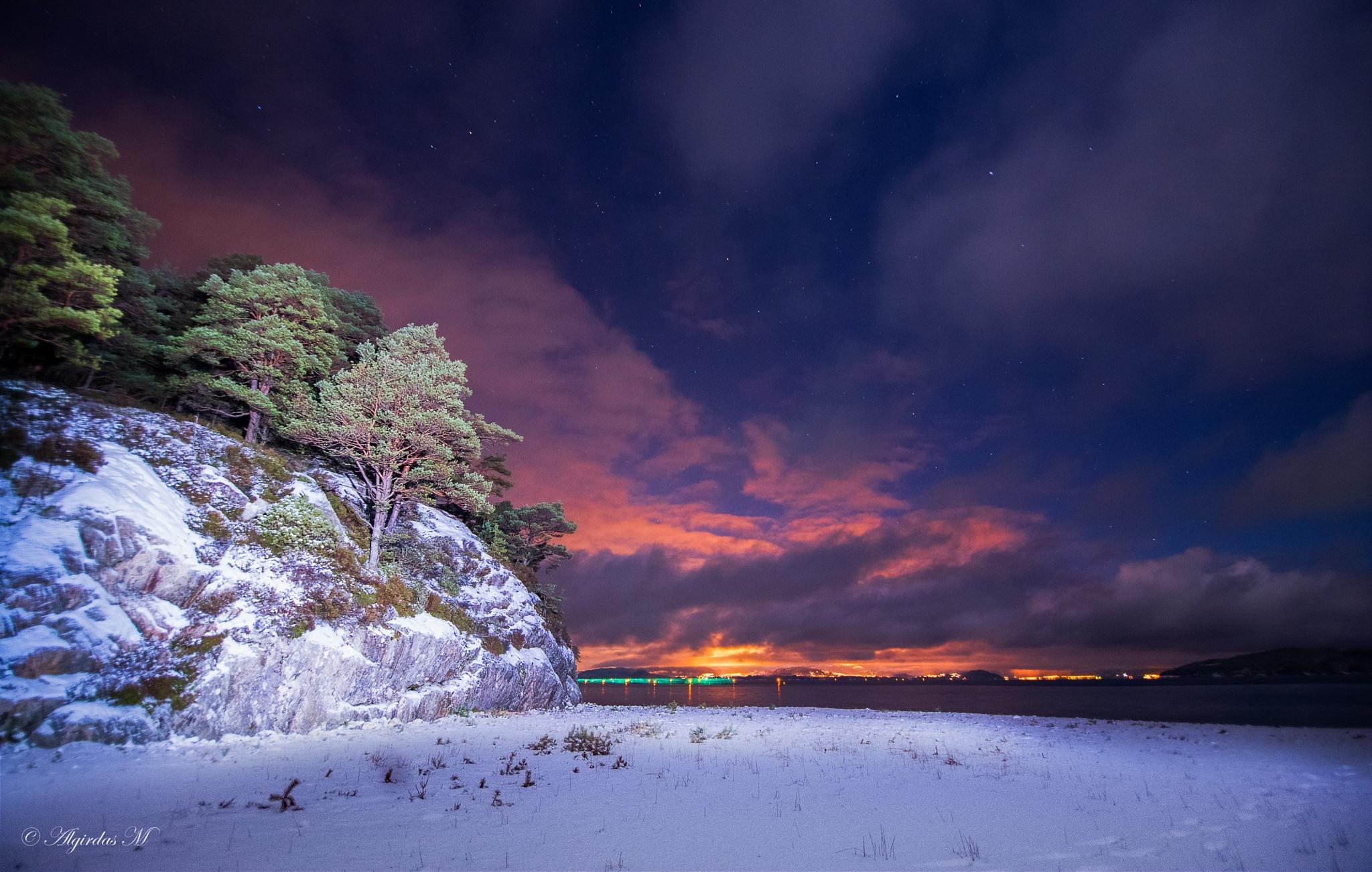 Sunset and Moon  by Algirdas Motiejunas