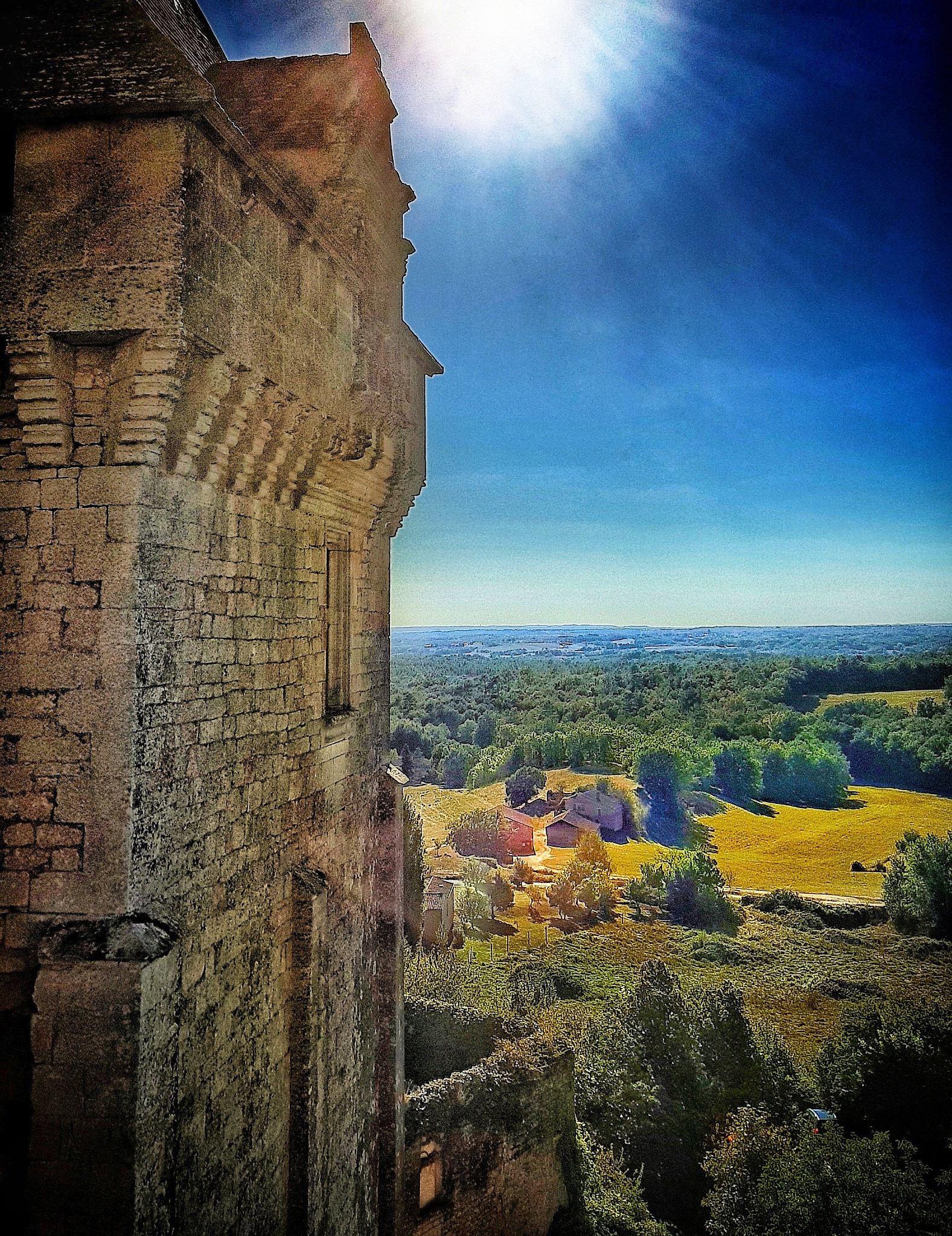 Landscape from the Castle of Biron by Claudia Farolfi