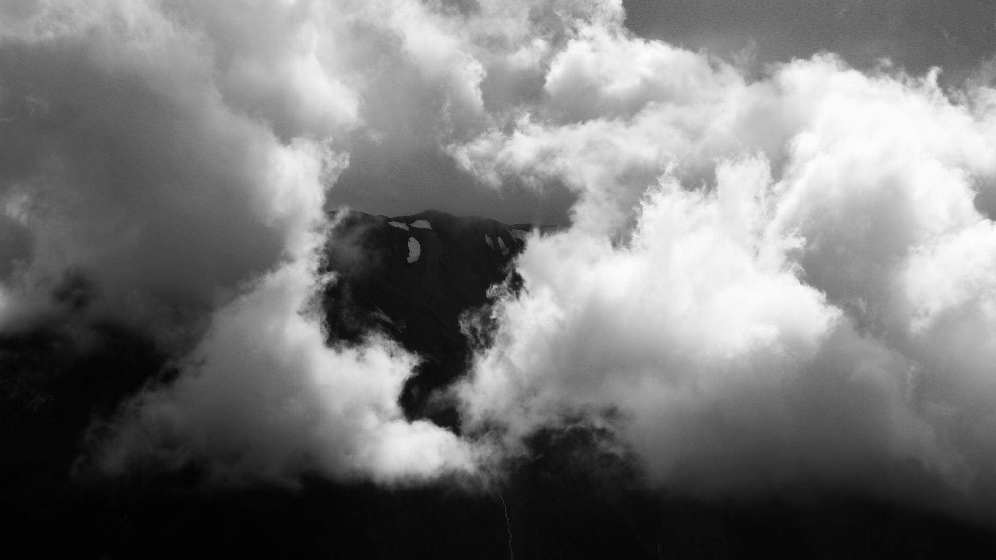 Photo in Landscape #photo #clouds #mountains #b&w #monochrome #cloud #cool
