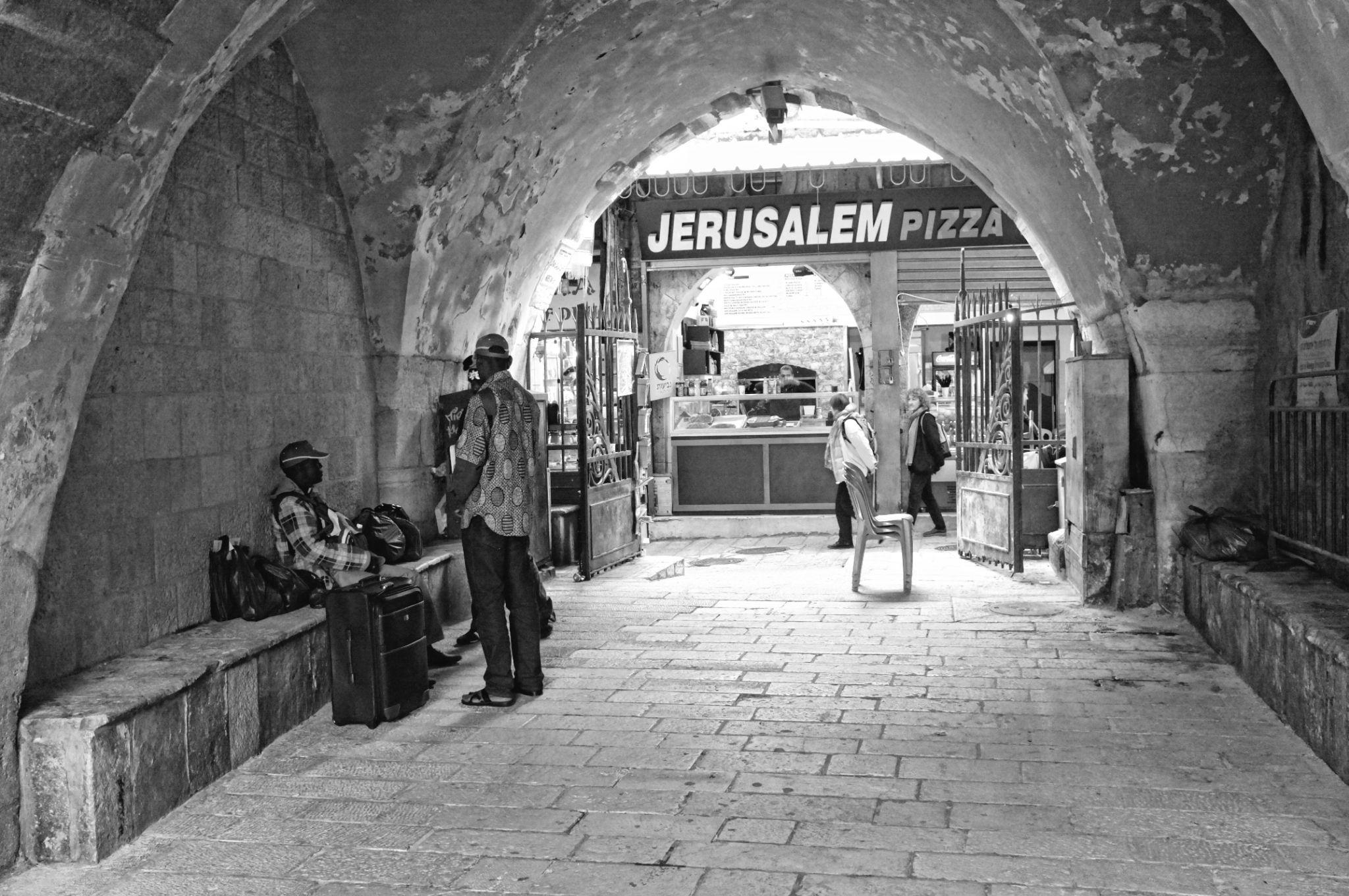 Jerusalem pizza.  by Val Karminsky