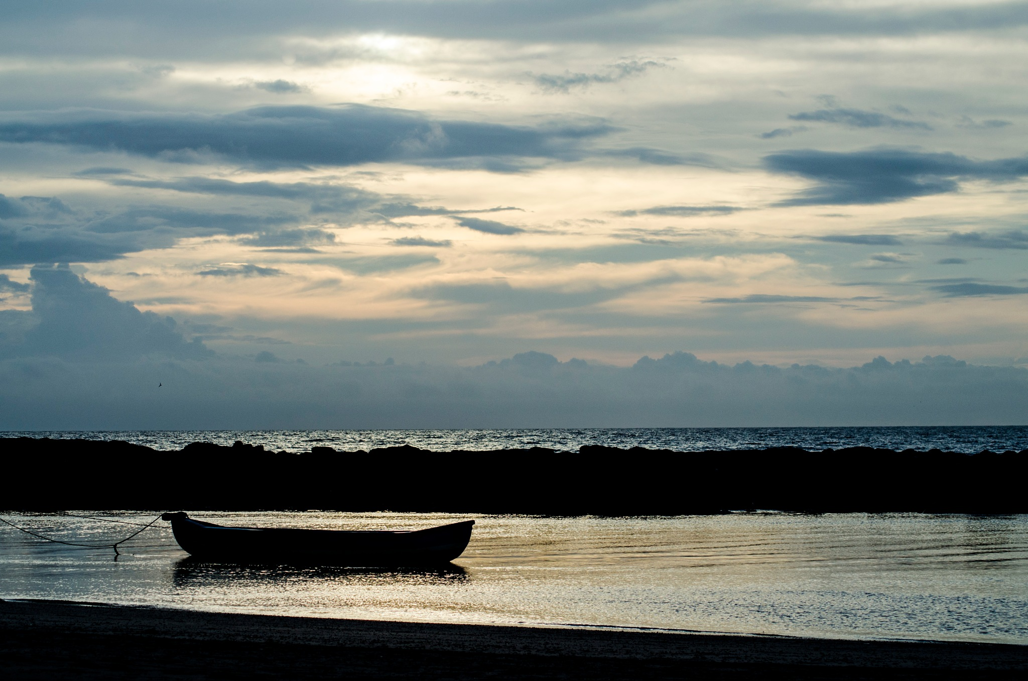 Boat at Sunset by Abhinav Nautiyal