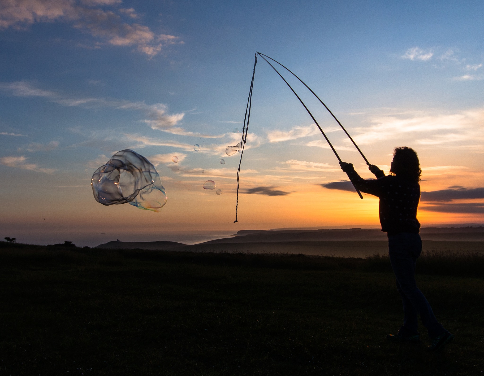 Photo in Sea and Sand #sunset #bubblecreatures #bubble #beach