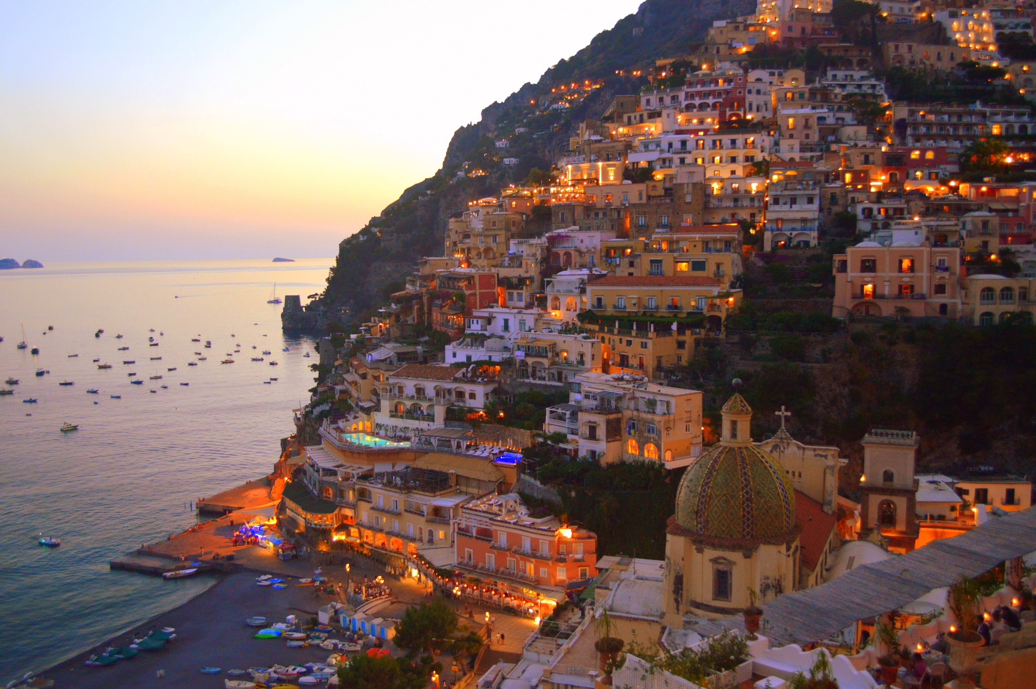 Positano in the evening by Frederico Domondon