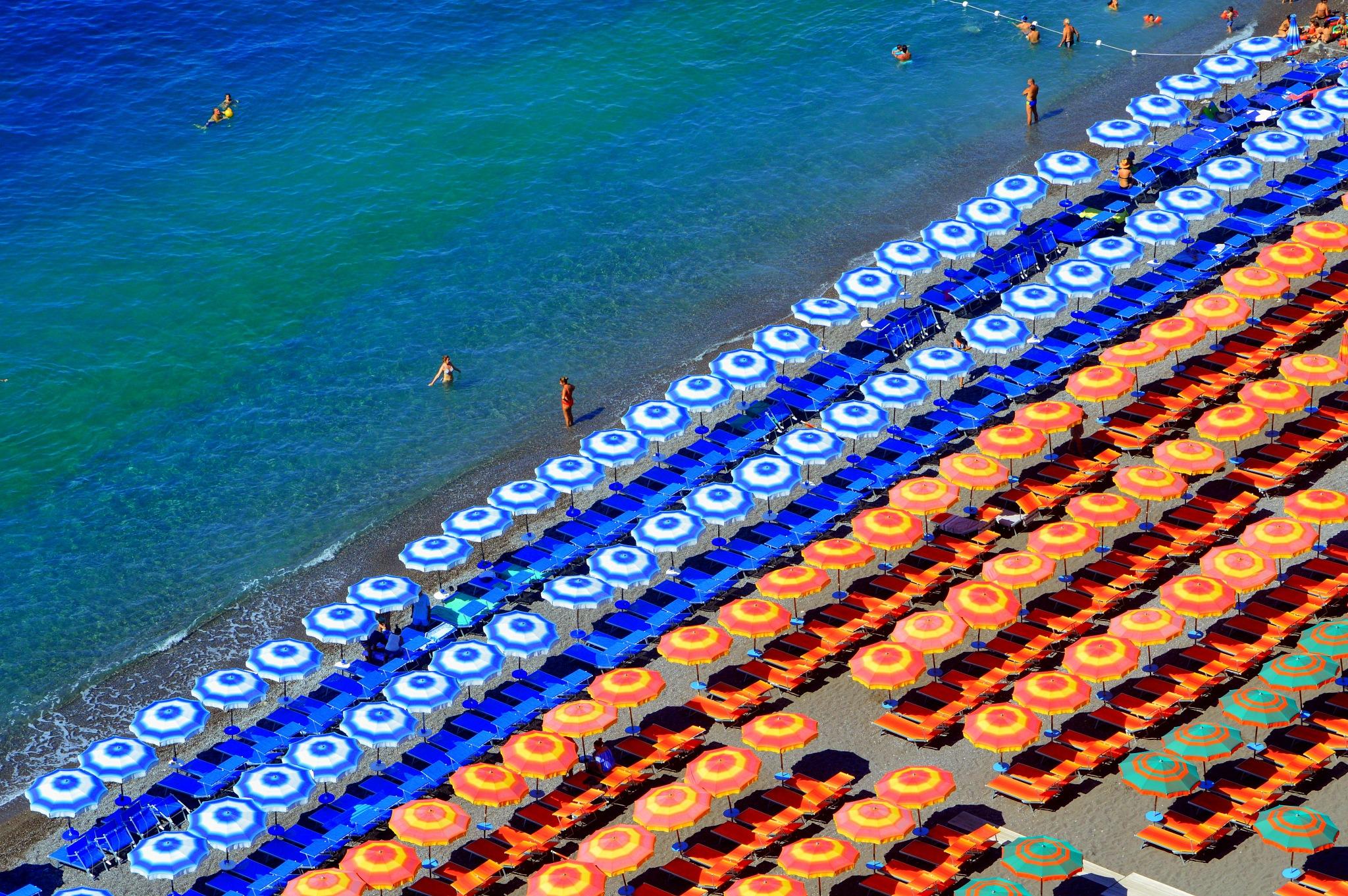 Beach in Positano by Frederico Domondon