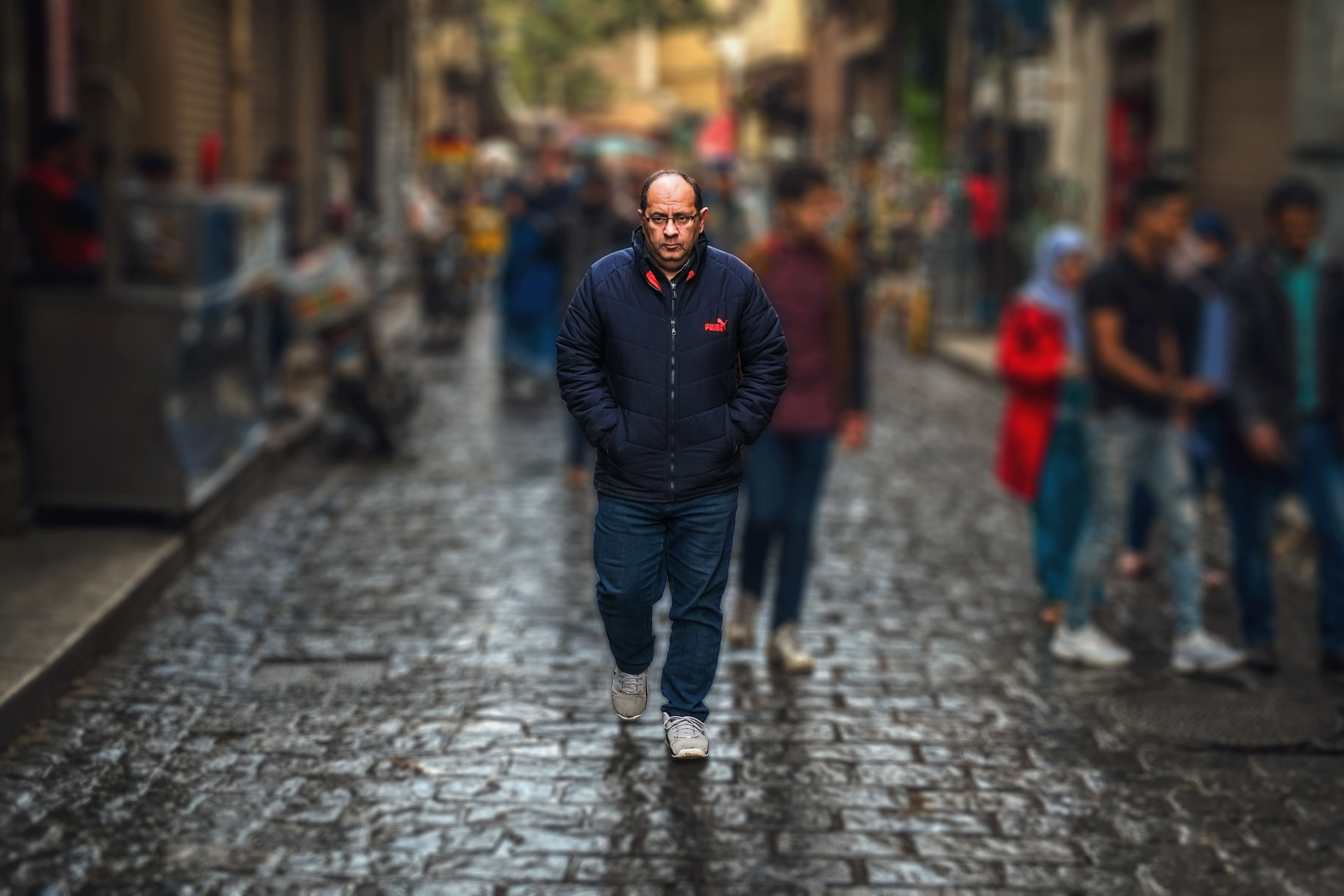 Photo in Street Photography #people #portrait #street #street photography #man #walk #walking #crowd #fantasy #day #day time #morning #old #blur #bokeh #photo shop #edit #editing #color #colorful #colored #warm #calm