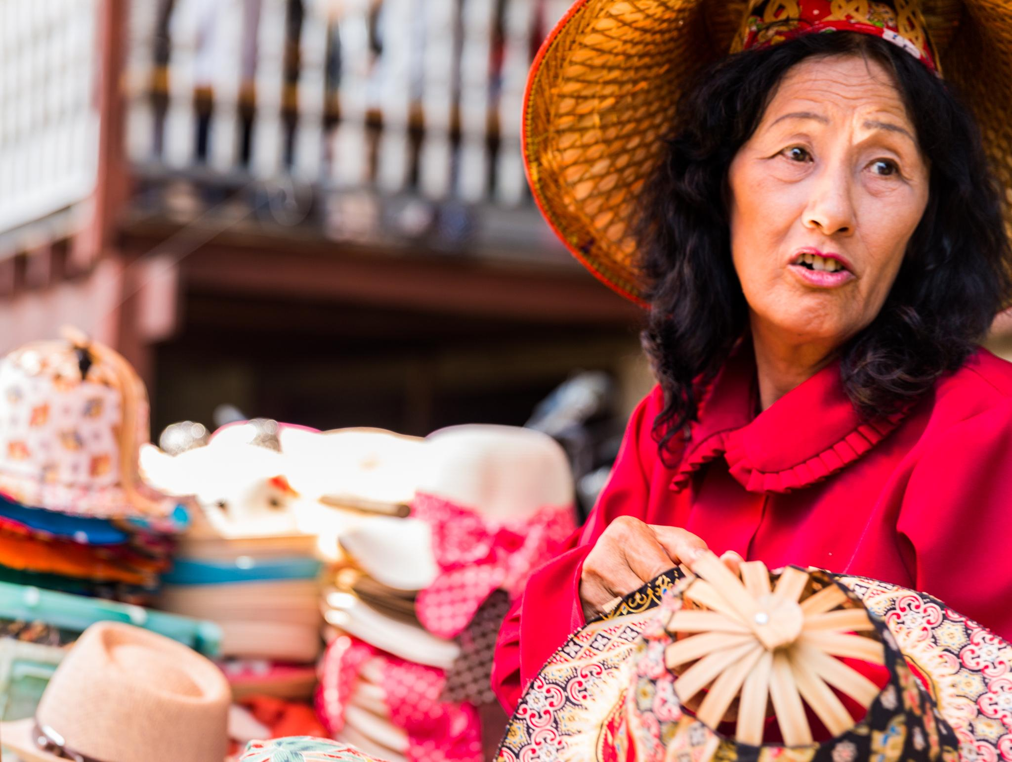 Thailand Hat Seller by Ranjith