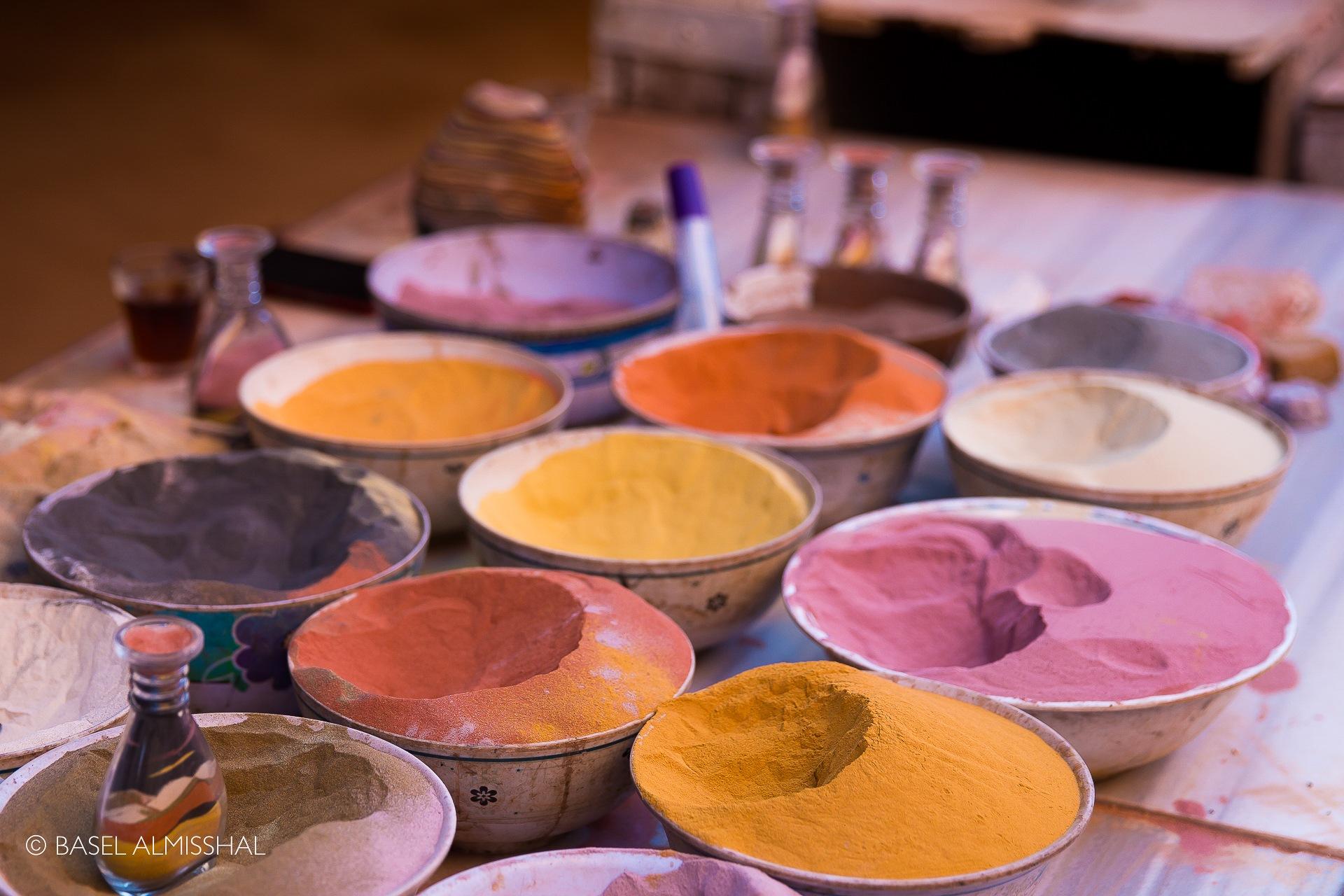 Colorful Sand Art  by Basel Almisshal