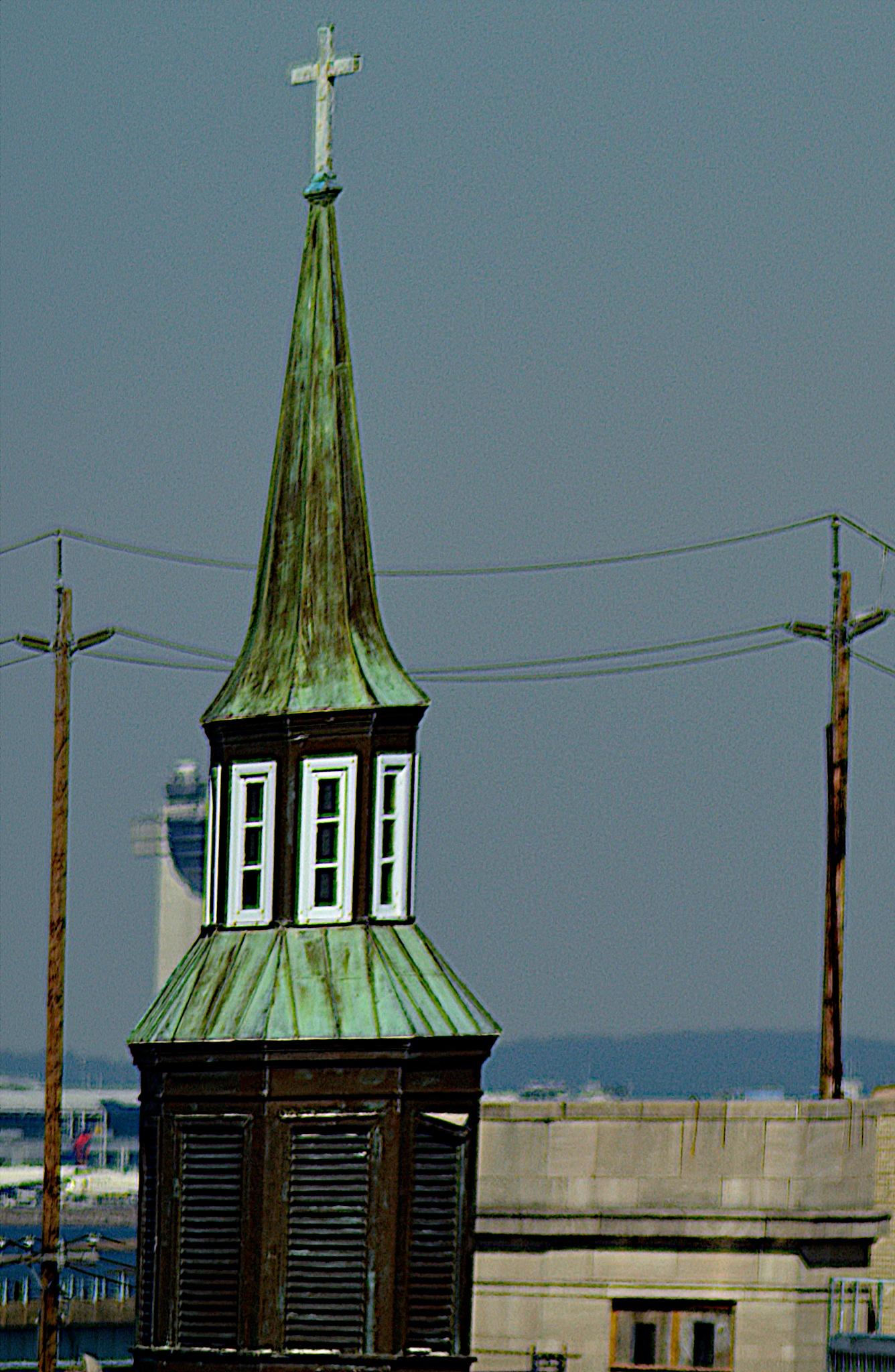 Photo in Street Photography #steeples #lightpoles #crosses #ornamental #spirituality #faith #weather beaten #wood work #nikon d5200