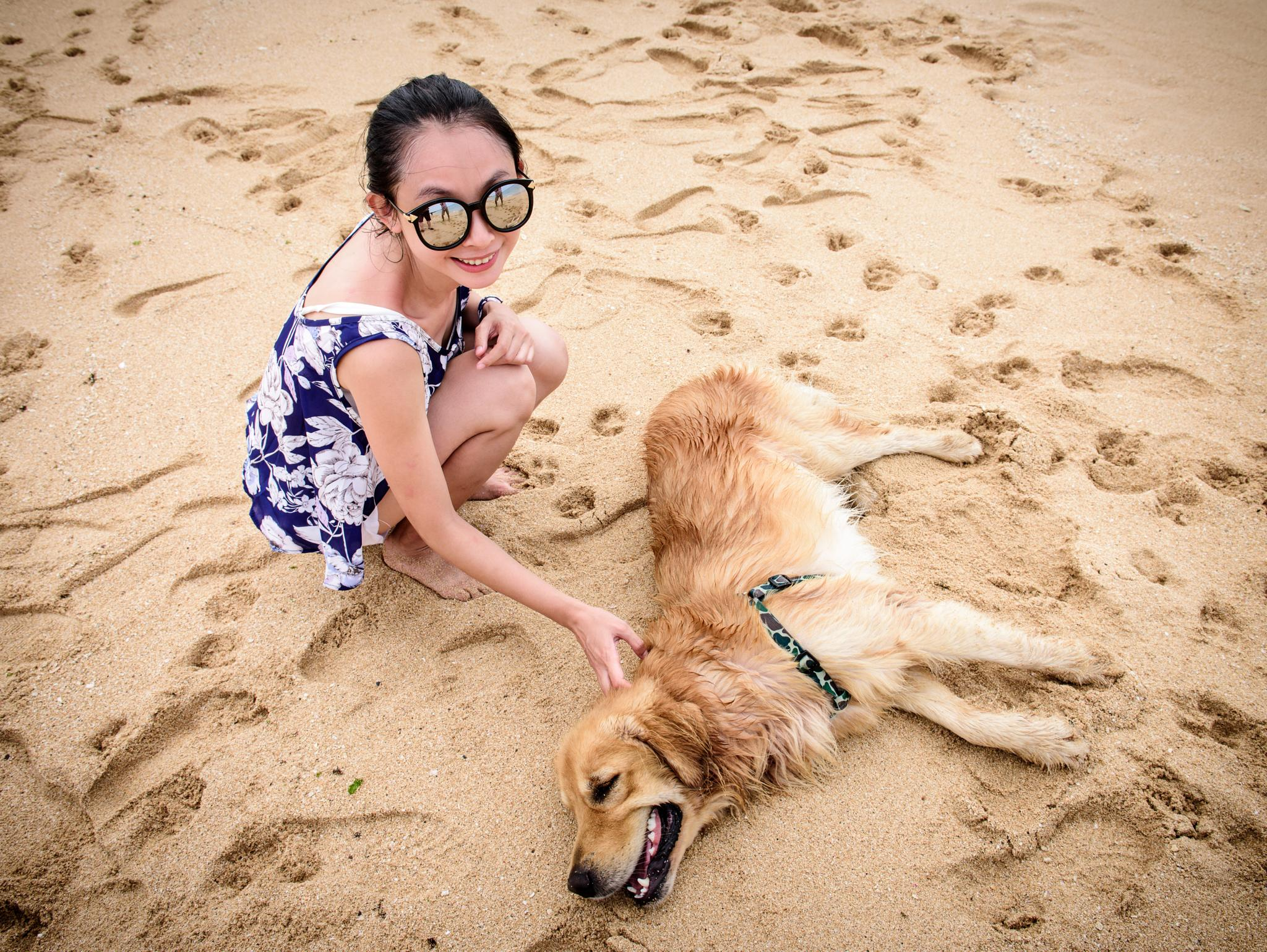 Girl and dog by pslee