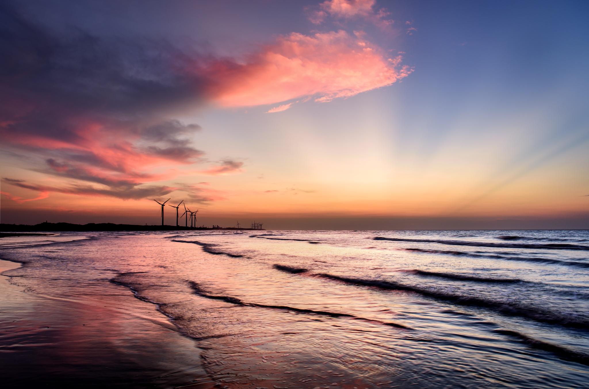 Sunset at the Beach by pslee