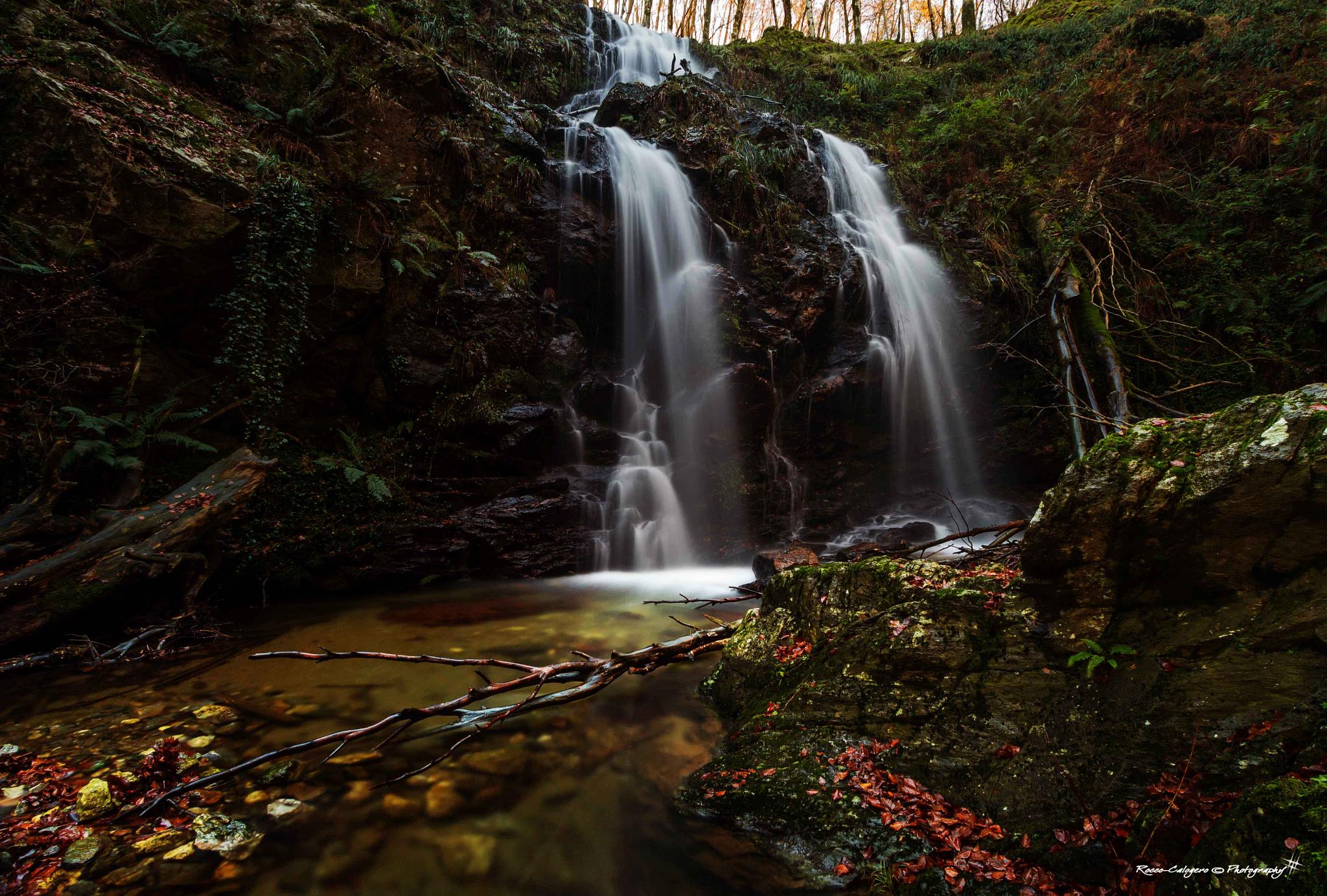by the curtains of the waterfall 2 by Rocco Calogero