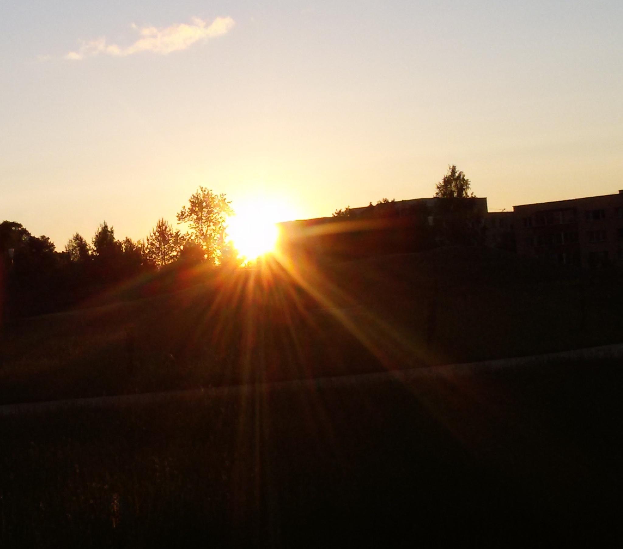 Sunset light by Zita Užkuraitienė