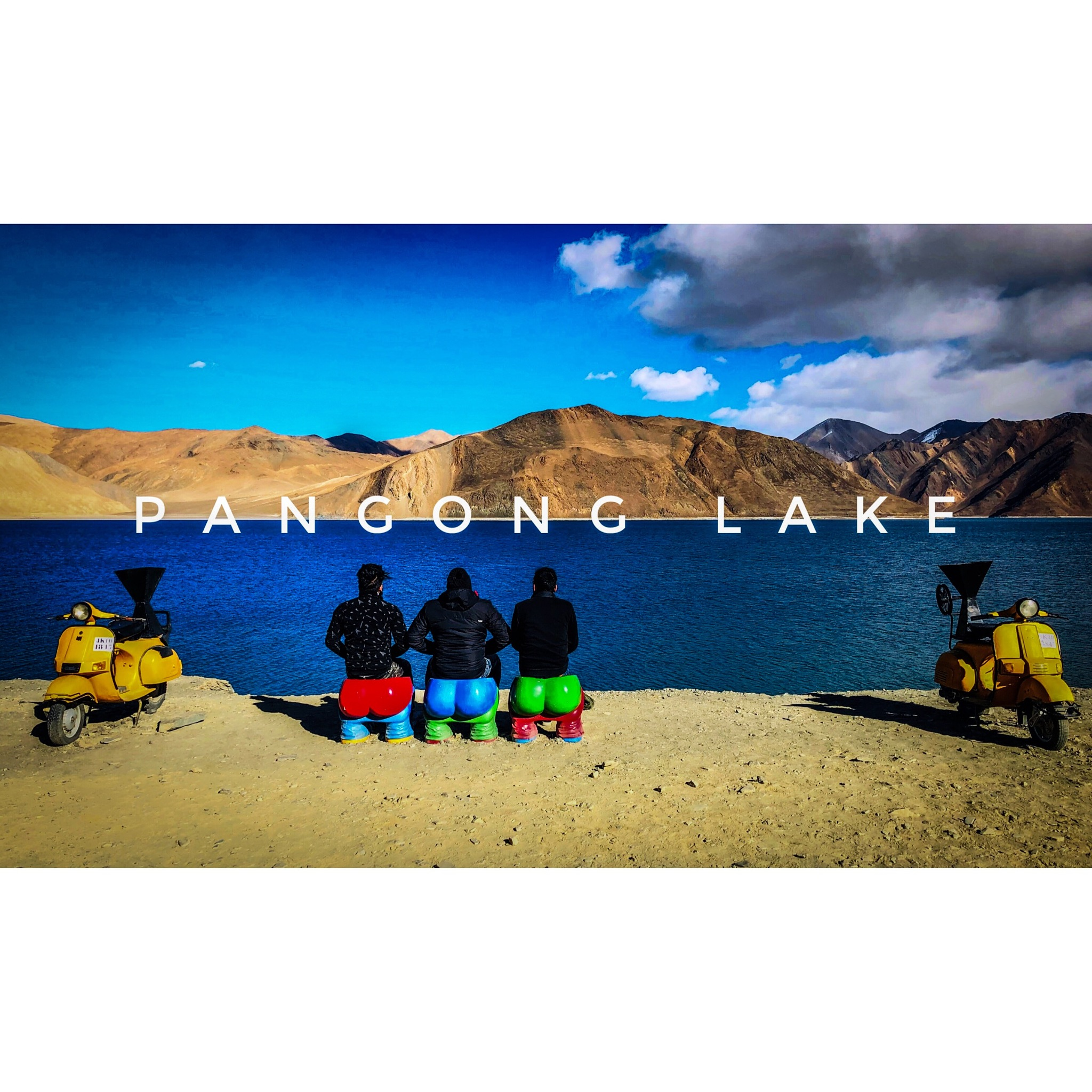 Pangong lake , India by Yaxir Huxxain