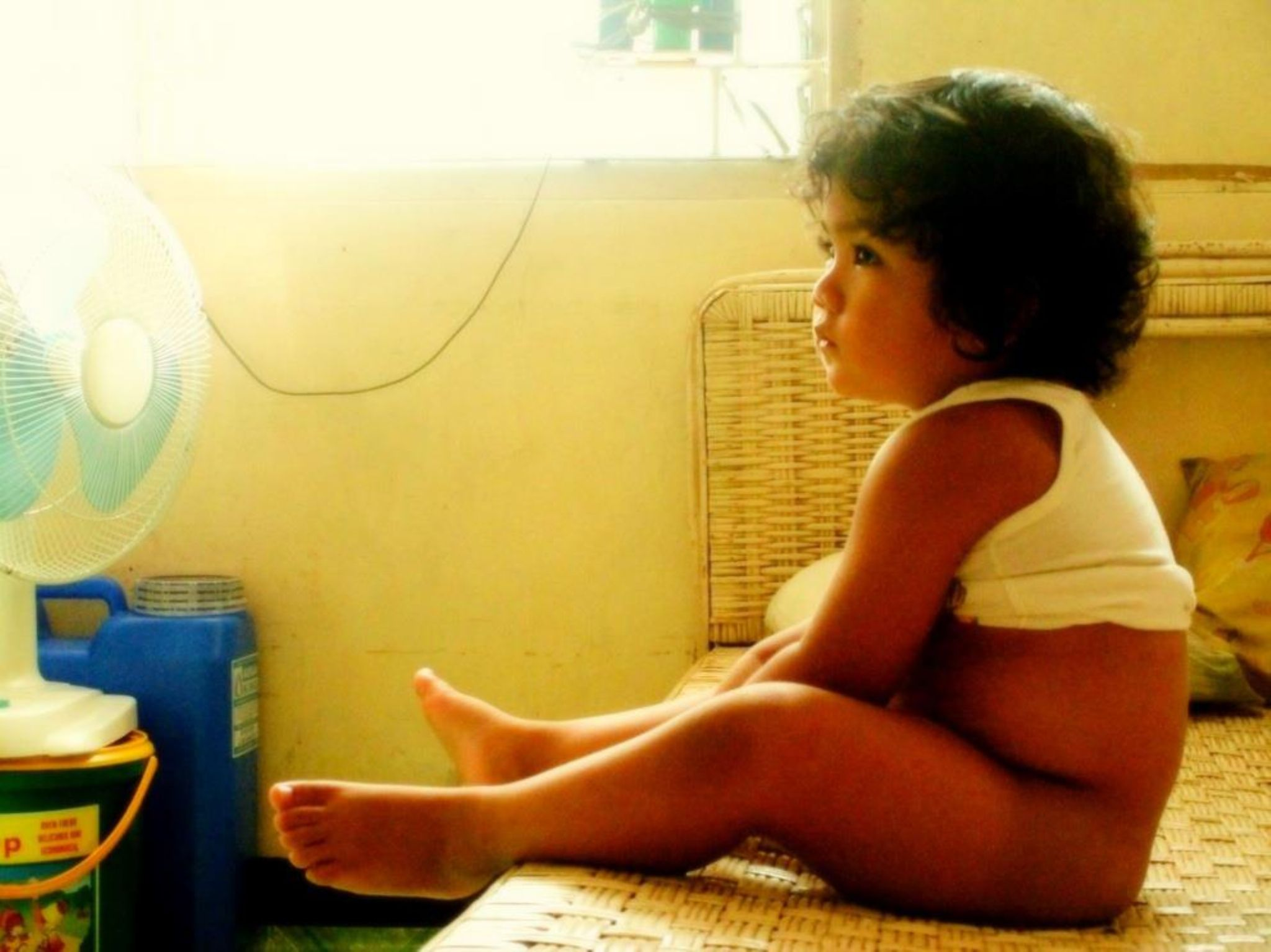 My son watching TV by ChristianBuenaobra