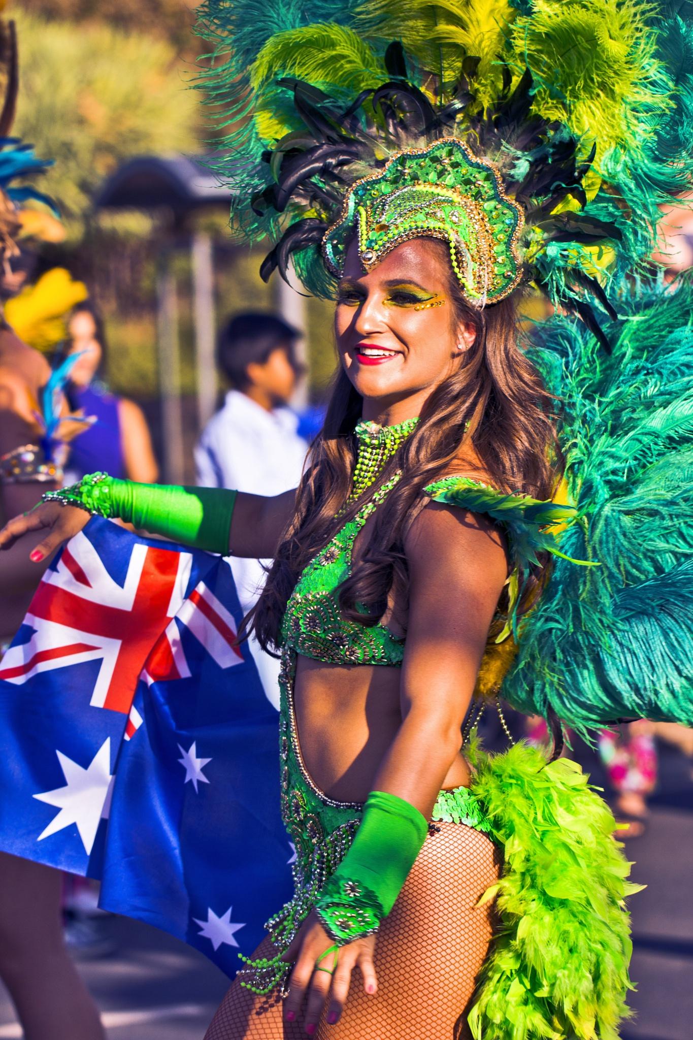 Australia Day Parade, Brazilian Dancer by Ersu Turk