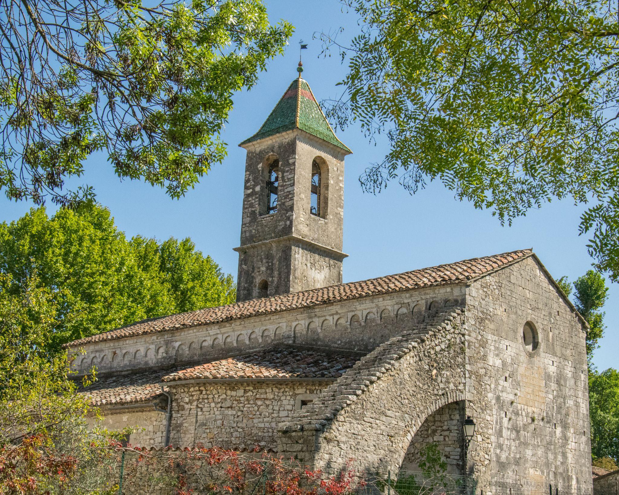 12th century church at Brissac, Herault by Donna Corbett