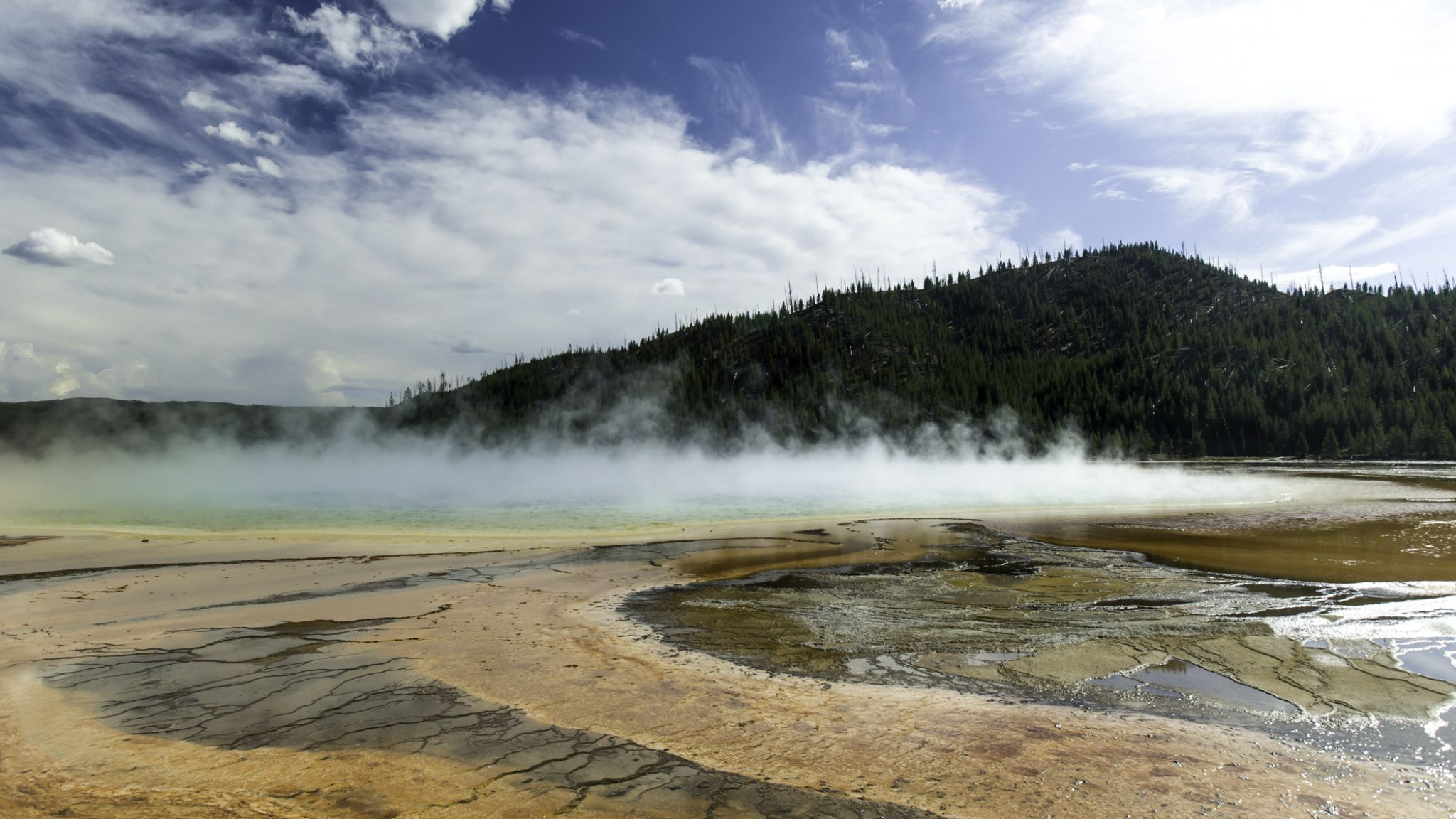 Grand Prismatic Spring by jboonepooler