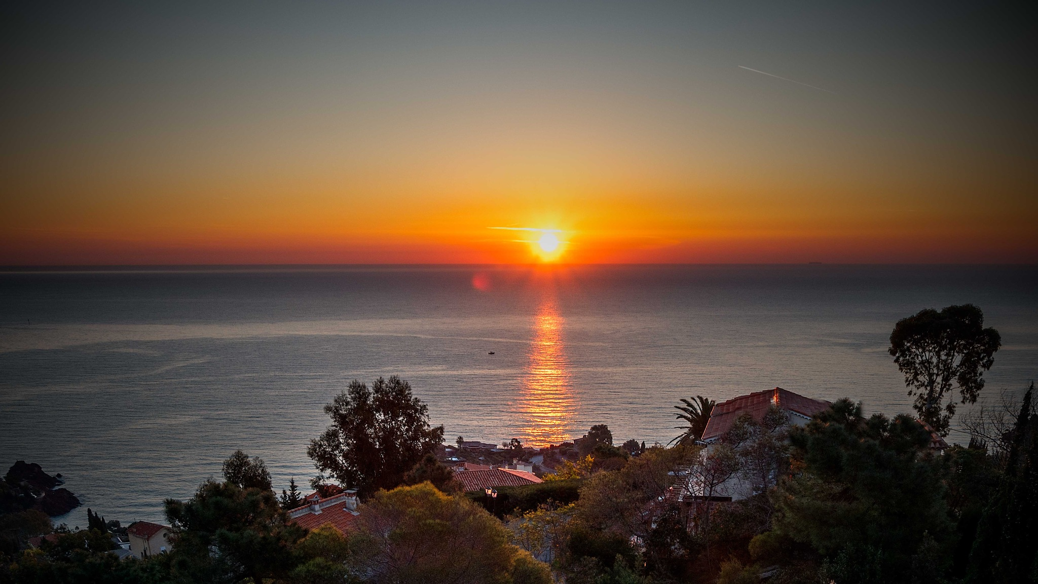 This morning sunrise over the Mediterranean, Cannes, France. by Jason Yoon