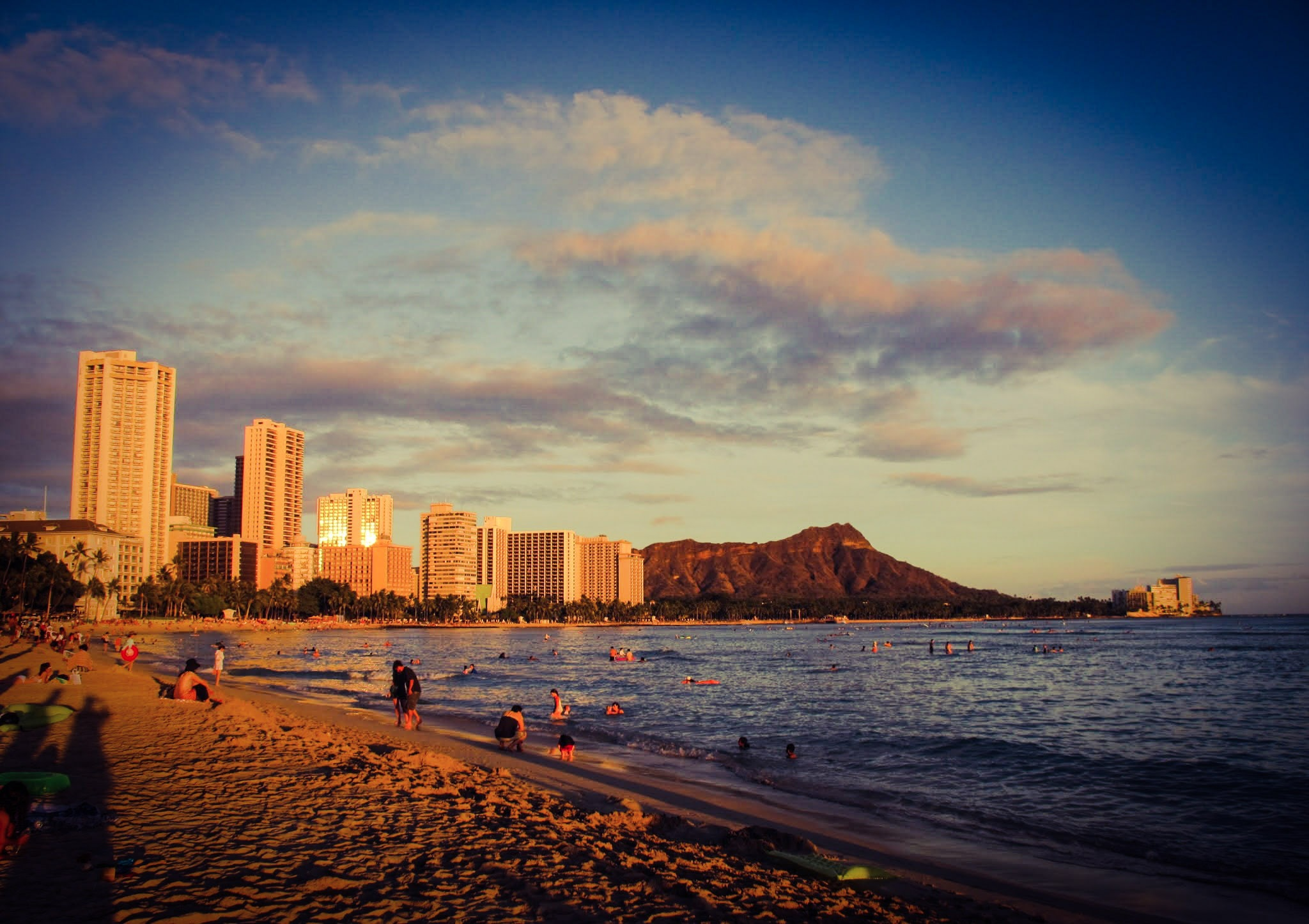 Photo in Sea and Sand #beach #sunset #waikiki #hawaii