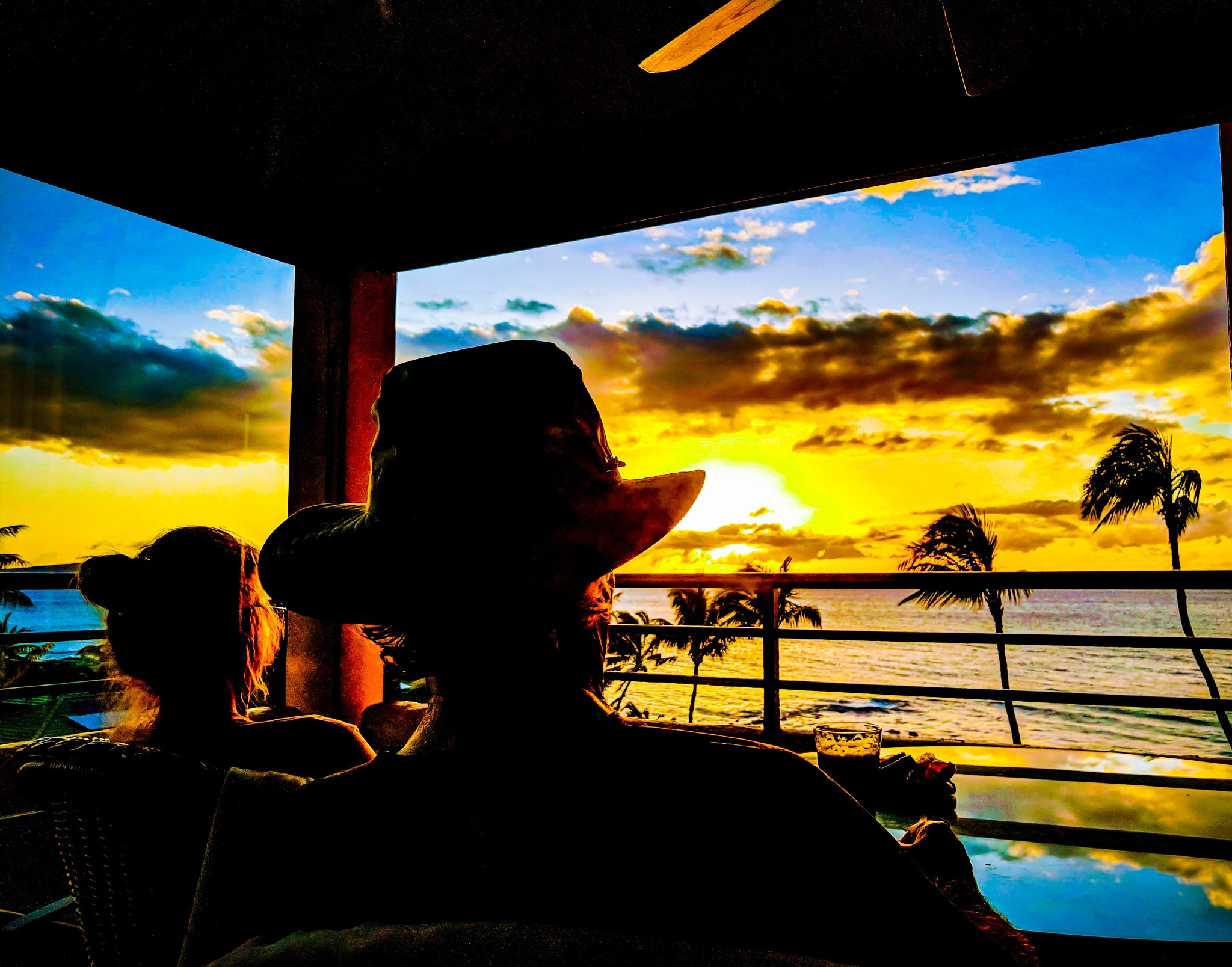 Photo in Travel #portrait #reflection #sunset #tropical #people #landscape #ocean #palmtree #sky #goldenhour