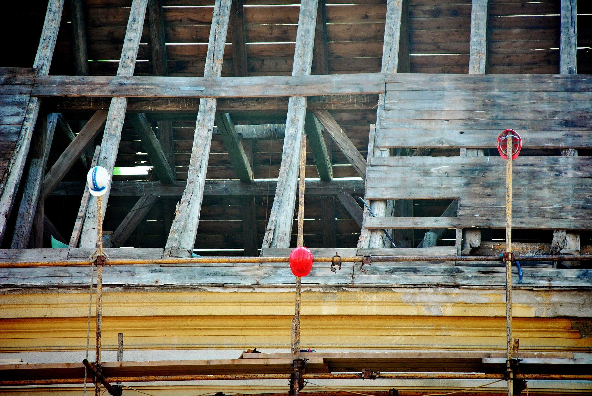 Photo in Abstract #color #abstract #tin hat #red #roof