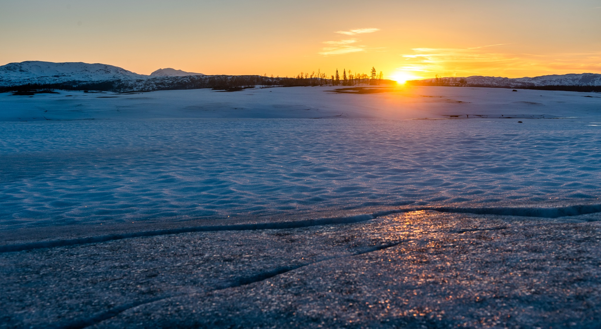 Sunrise a May morning. by E Pedersen