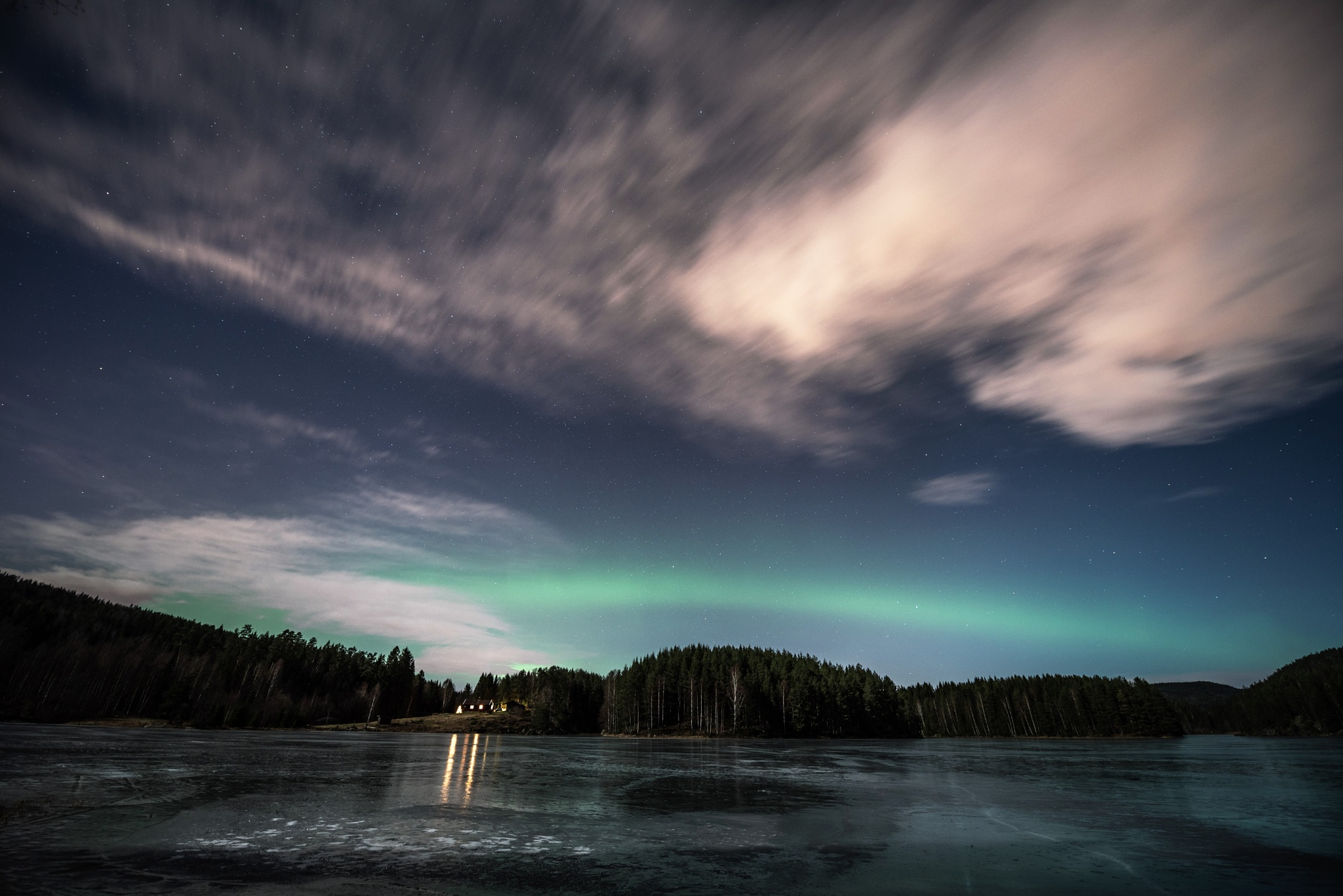 Evening with a strike of green by E Pedersen