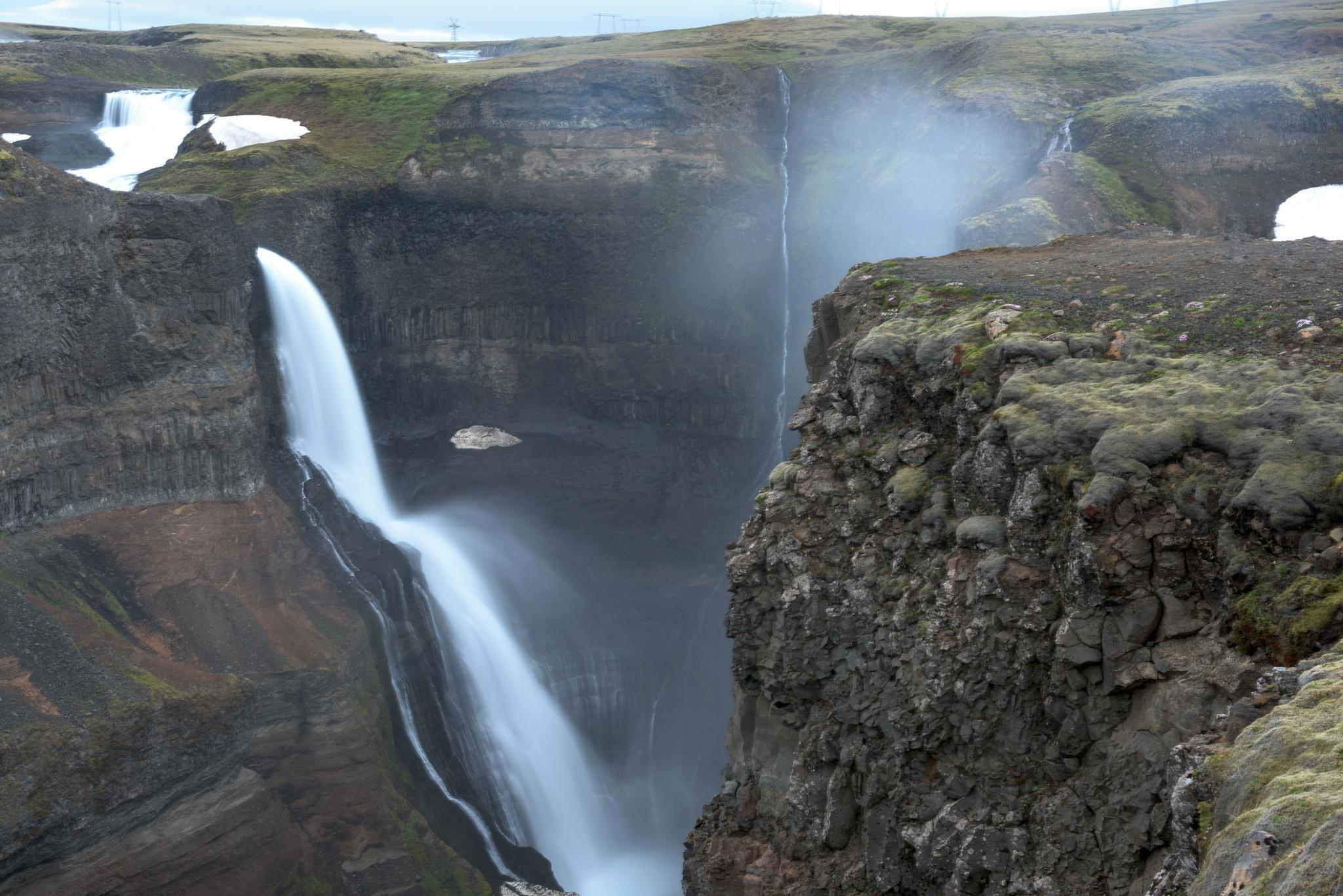 Icelandic waterfall by E Pedersen