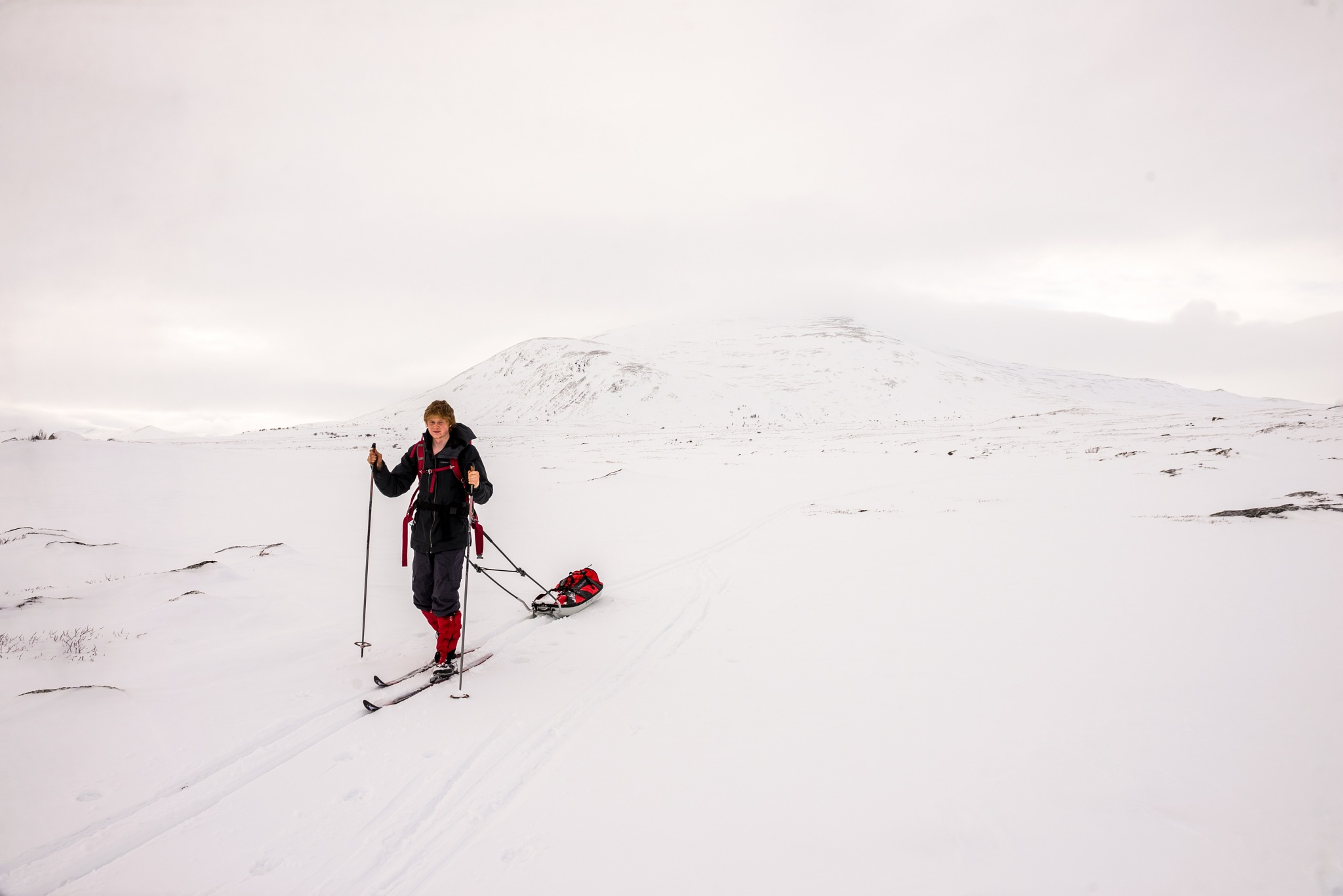 Skiing at Dovre by E Pedersen