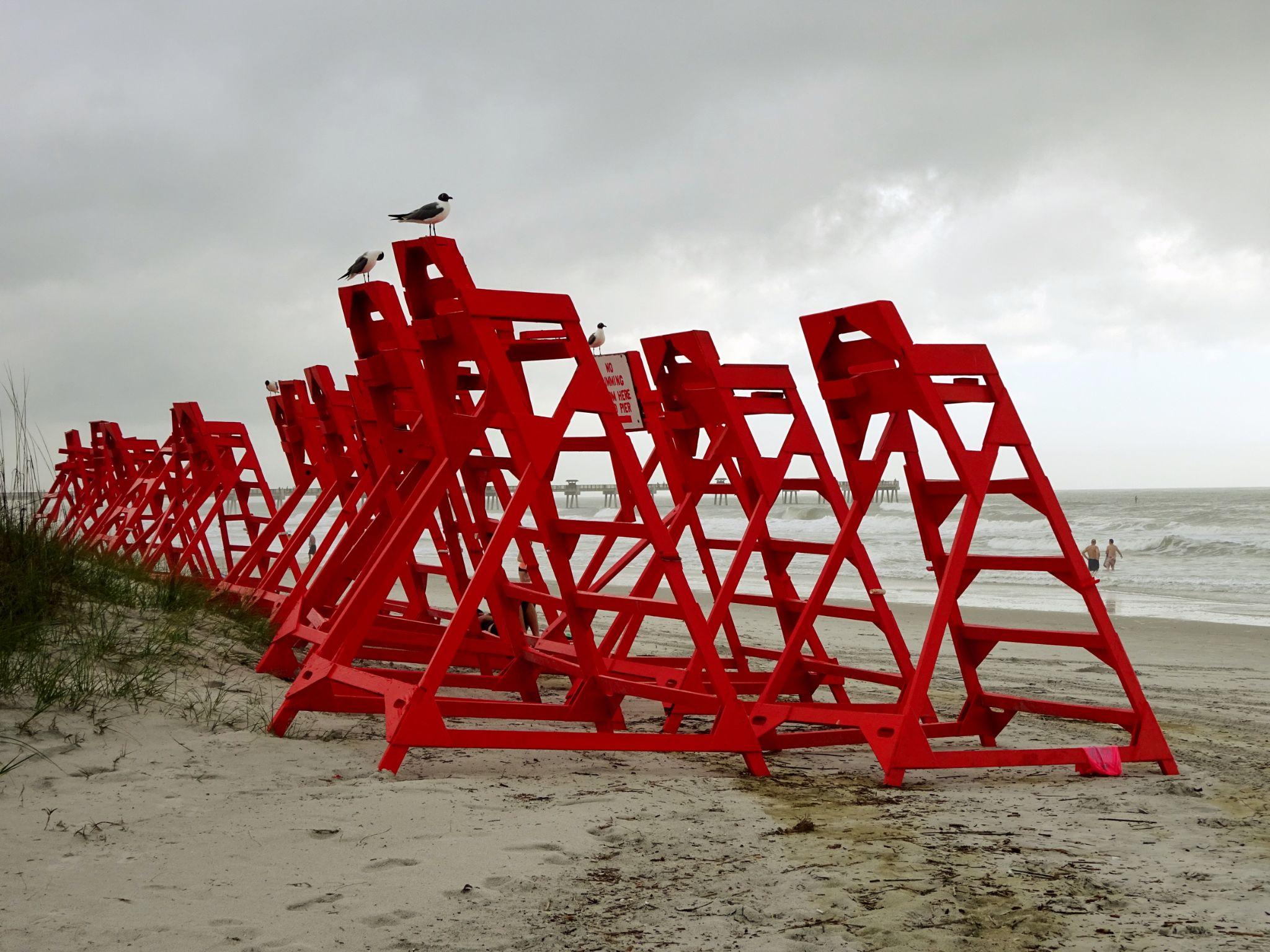 Lifeguard station by Judy Dean