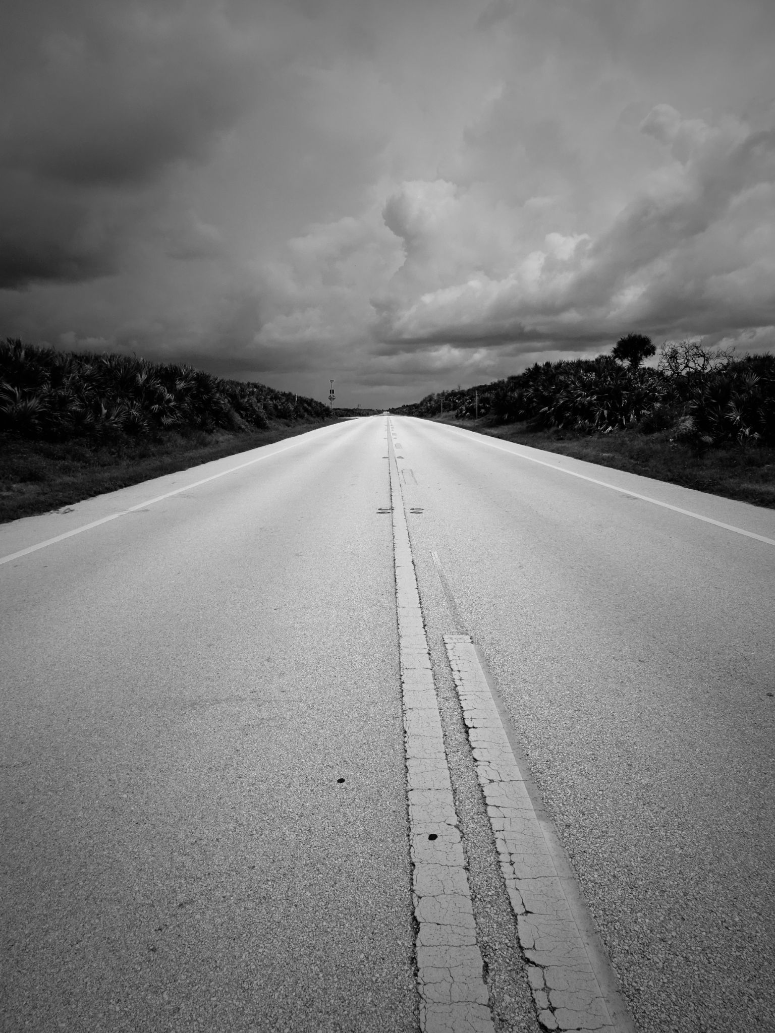 Road to the storm by Judy Dean