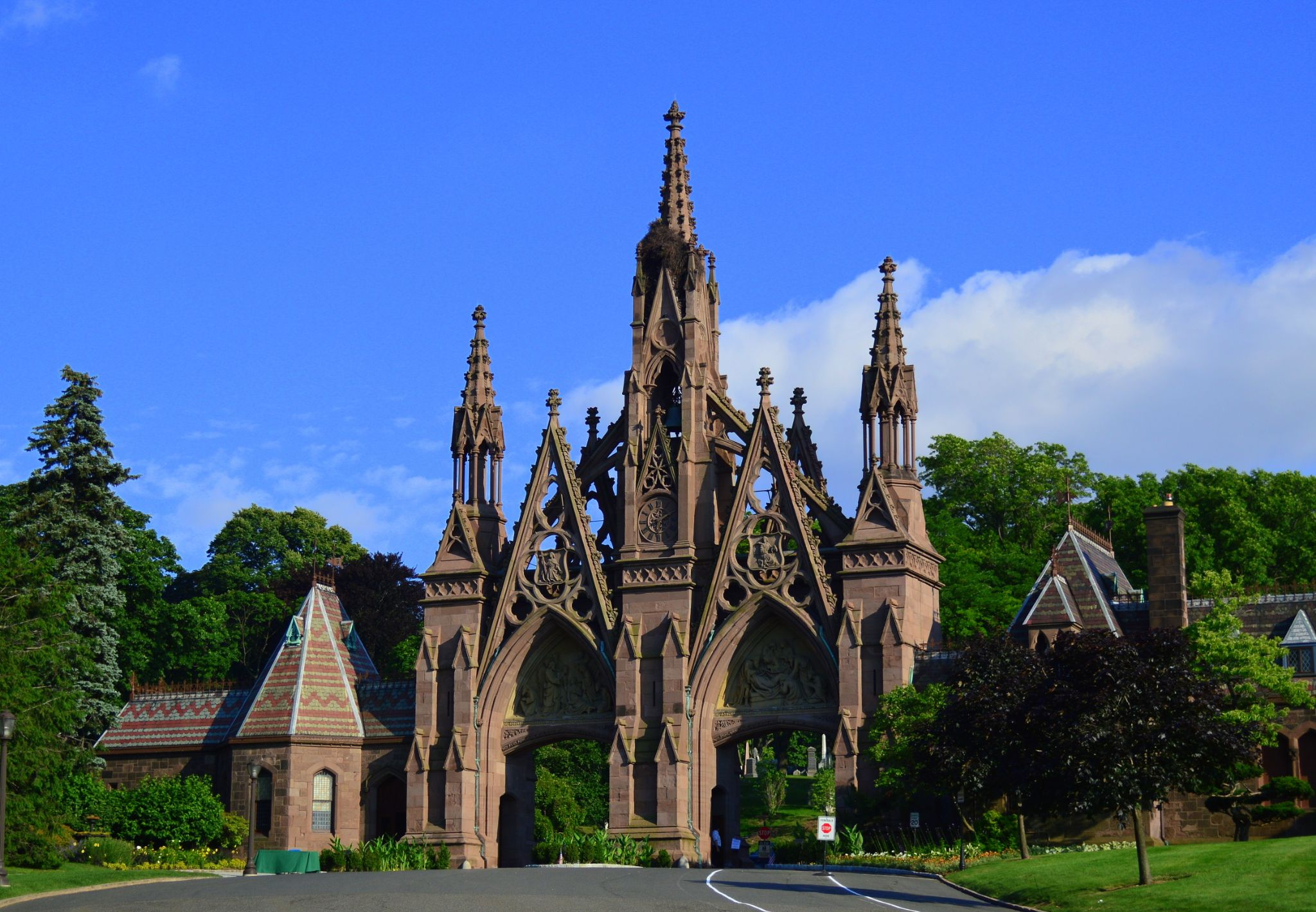Main Gate to Greenwood Cemetery.Brooklyn, New York USA by Andrew Piekut