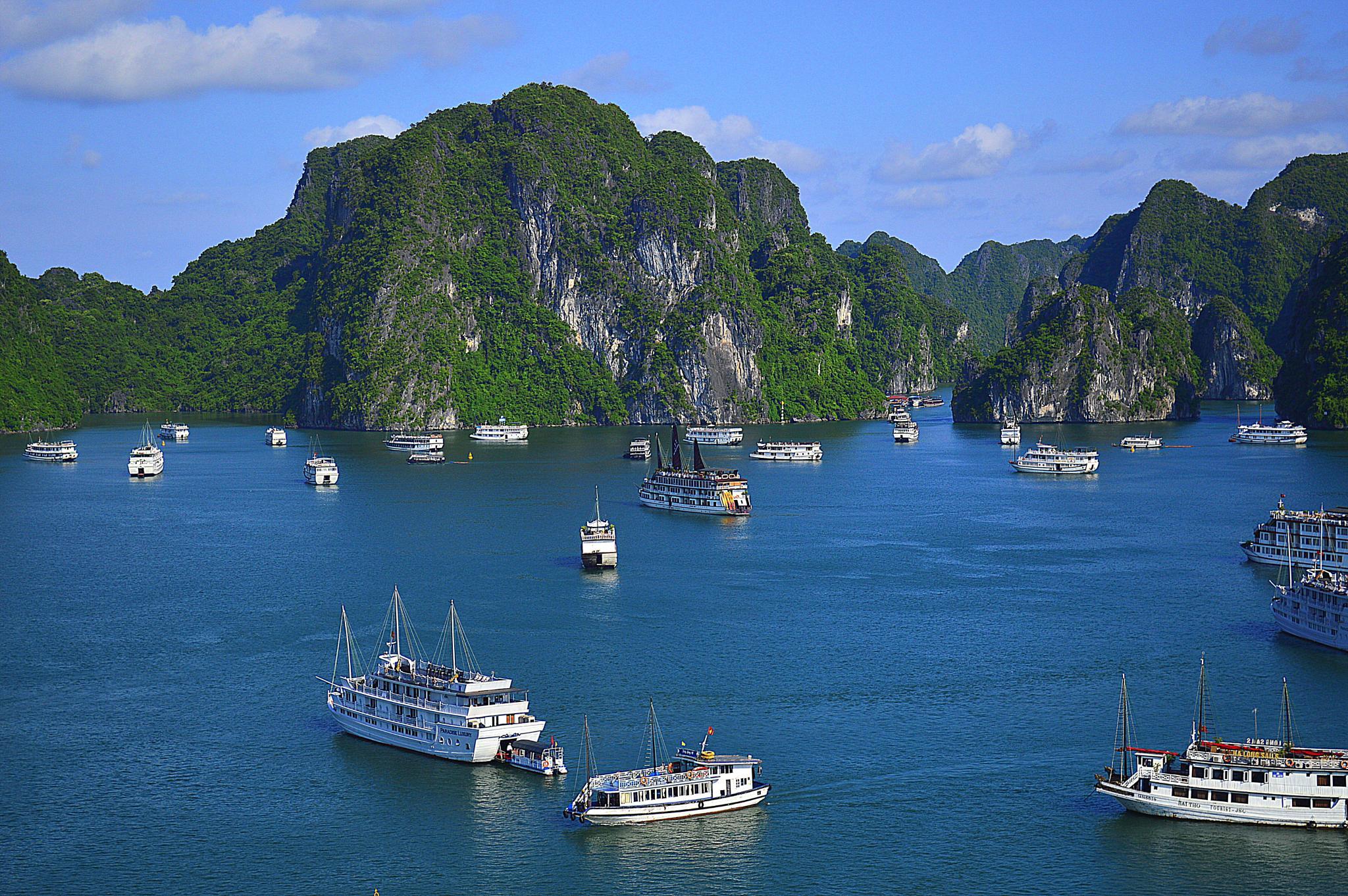 Halong Bay, Vietnam. by Andrew Piekut