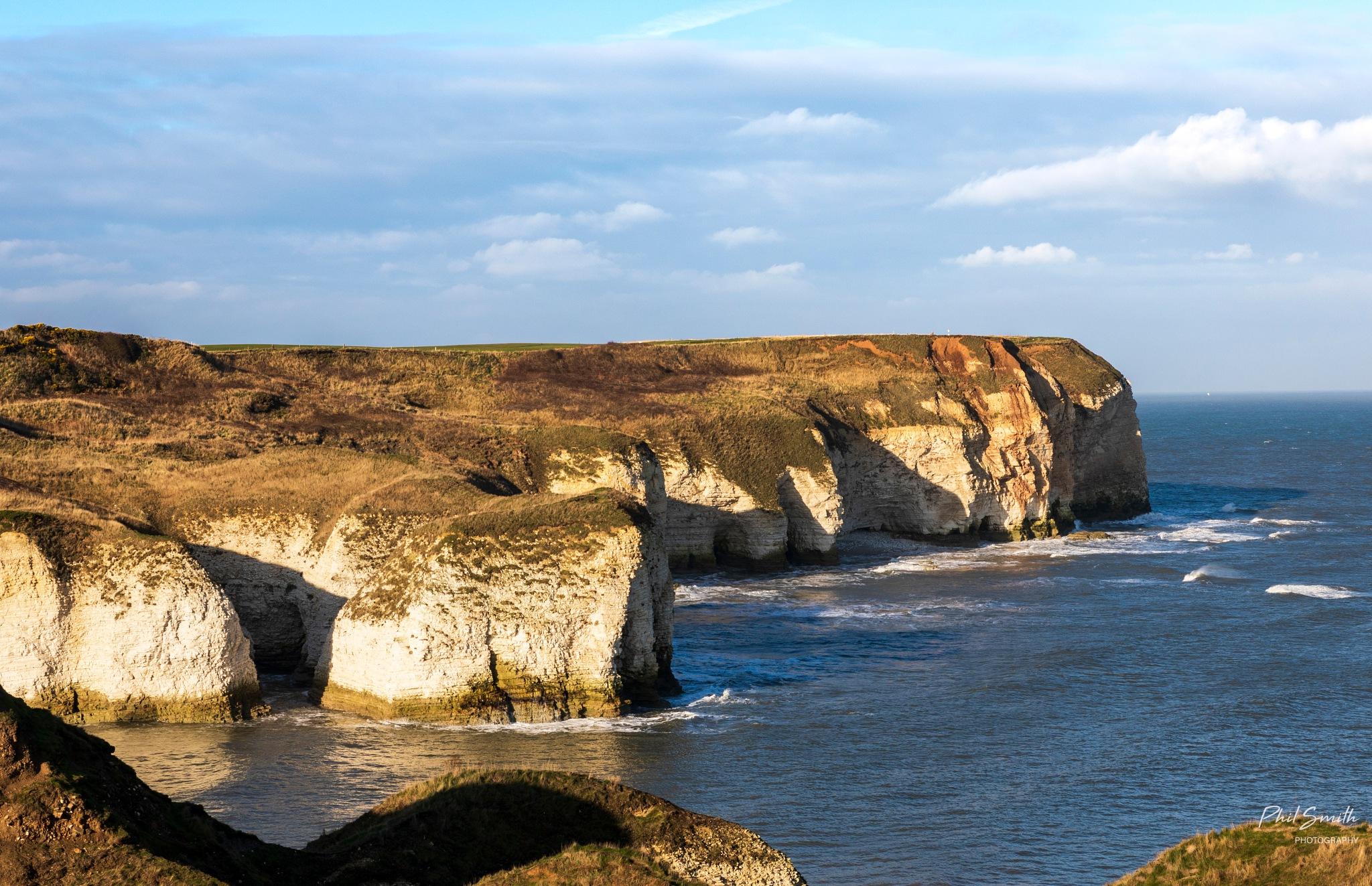 Photo in Landscape #coastline #seascape #north sea #flamborough #cliffs
