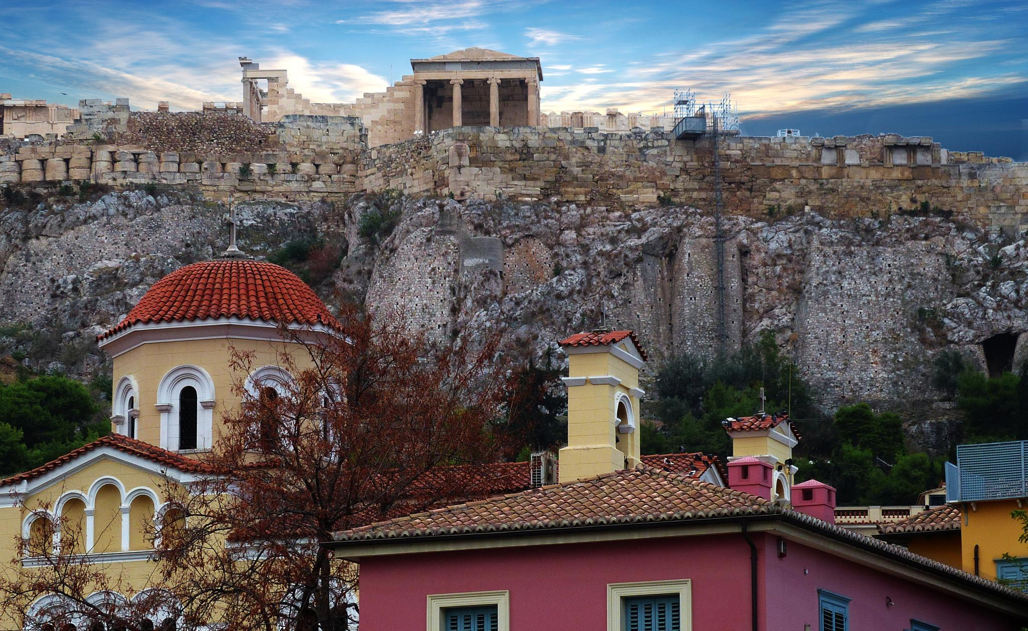 Athens City scene by Costa Philippou