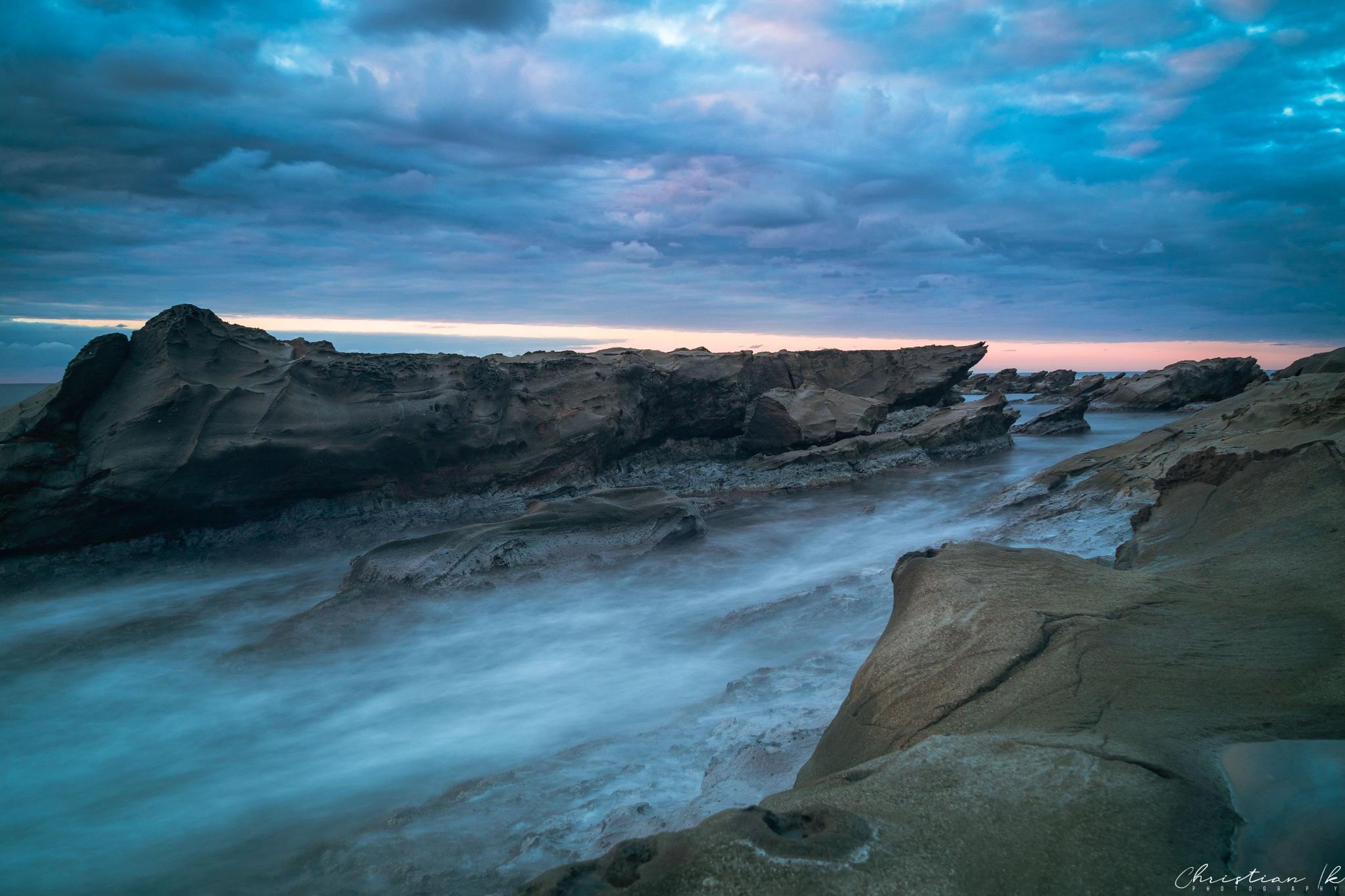 Photo in Landscape #sunset #light #nature #sea #seascape #ocean #rocks #landscape #long exposure #cloud #sky #travel