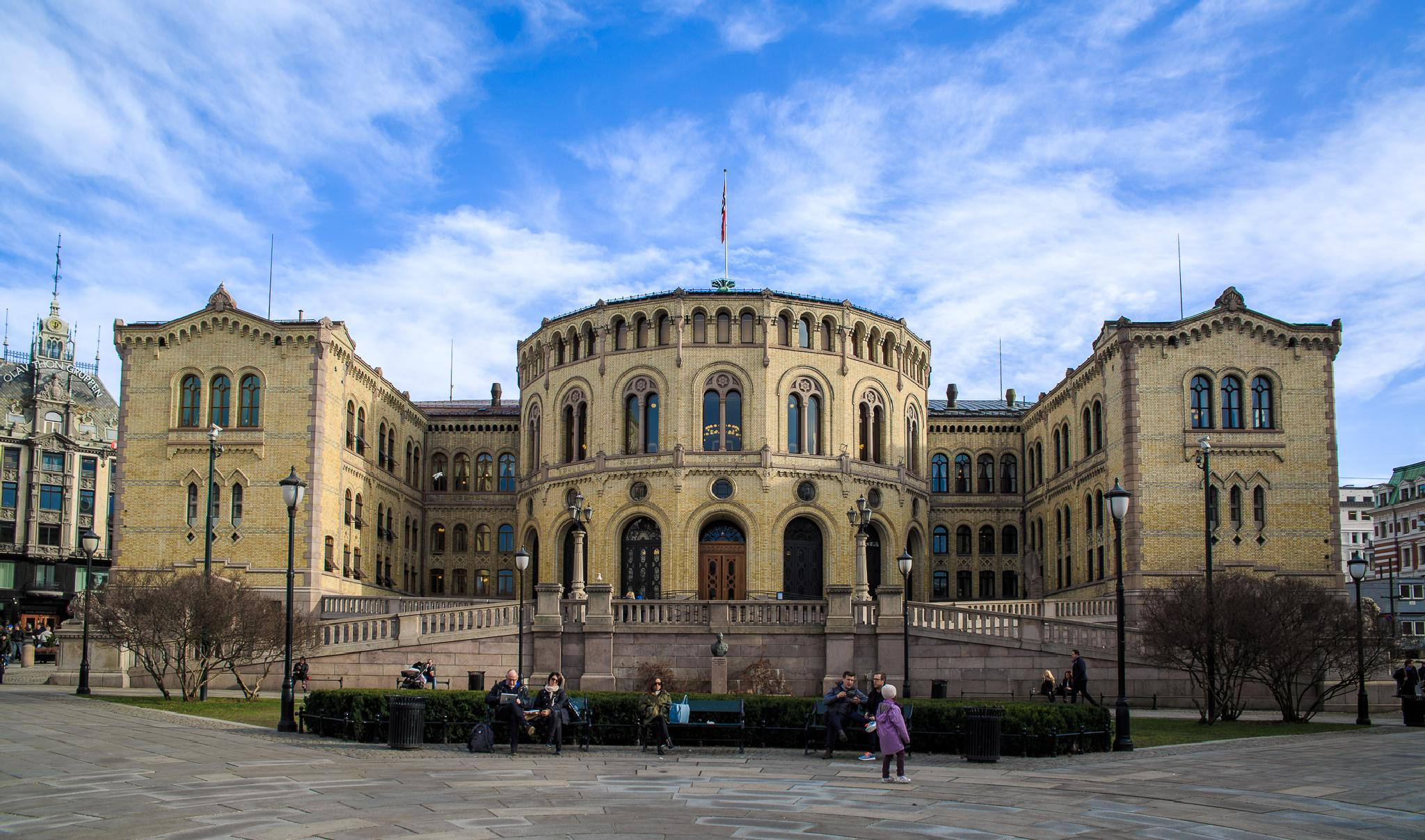 The Norwegian Parliament by StiPa Photography