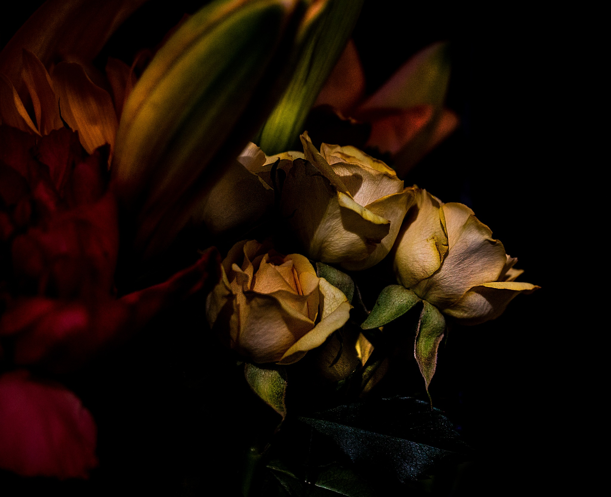 Photo in Fine Art #flowers #bouquet #yellow roses