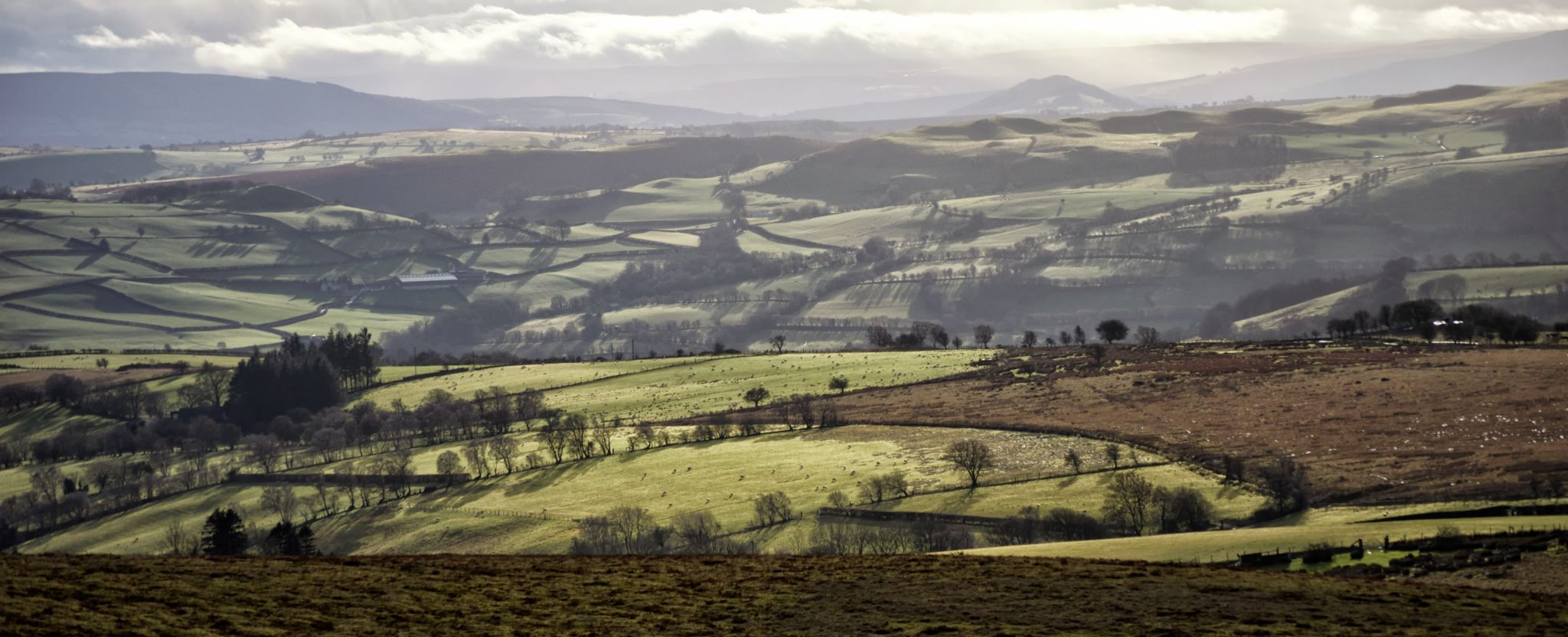 Towards the Brecon Beacons by Dominic Lemoine Photography