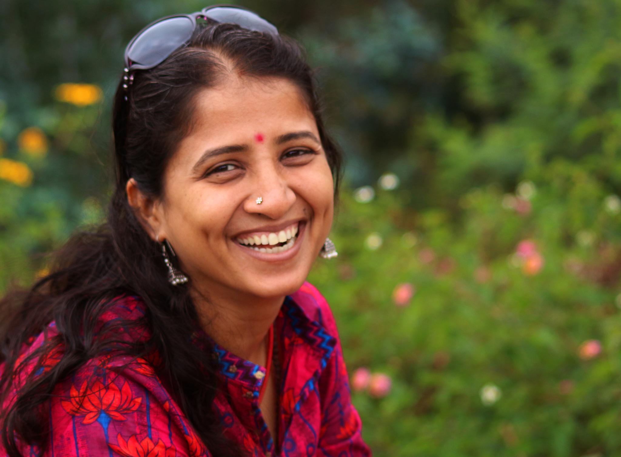 a beautiful laughter by Ramesha.Samarpana