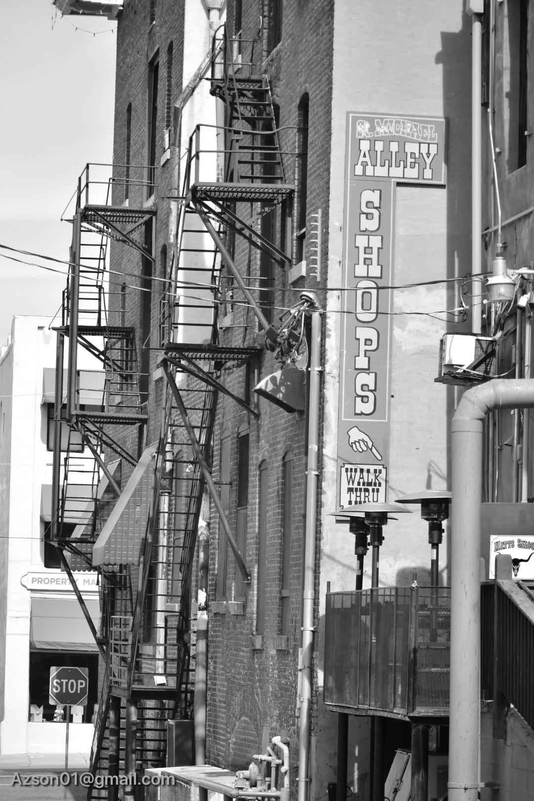 Photo in Cityscape #fire escape #prescott az