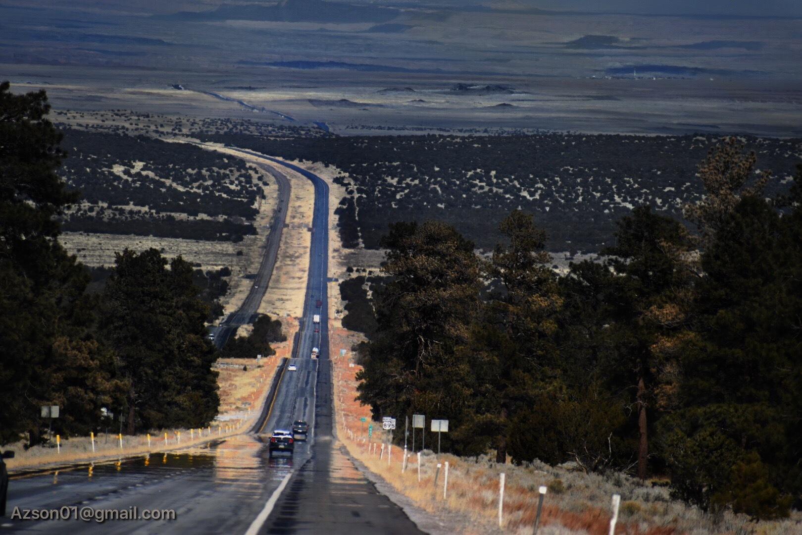 US 89,  Flagstaff Az by Luke Garue
