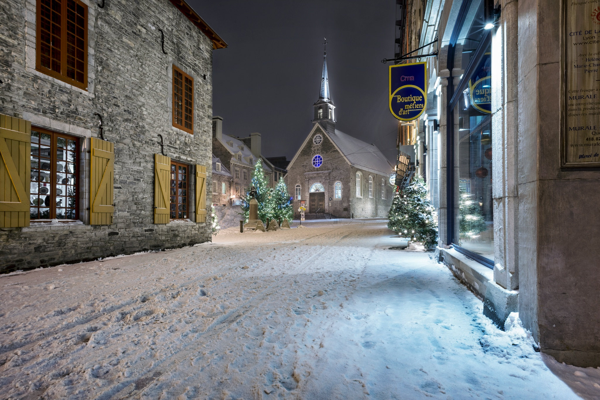 Old Quebec, Place Royale by Clermont Poliquin