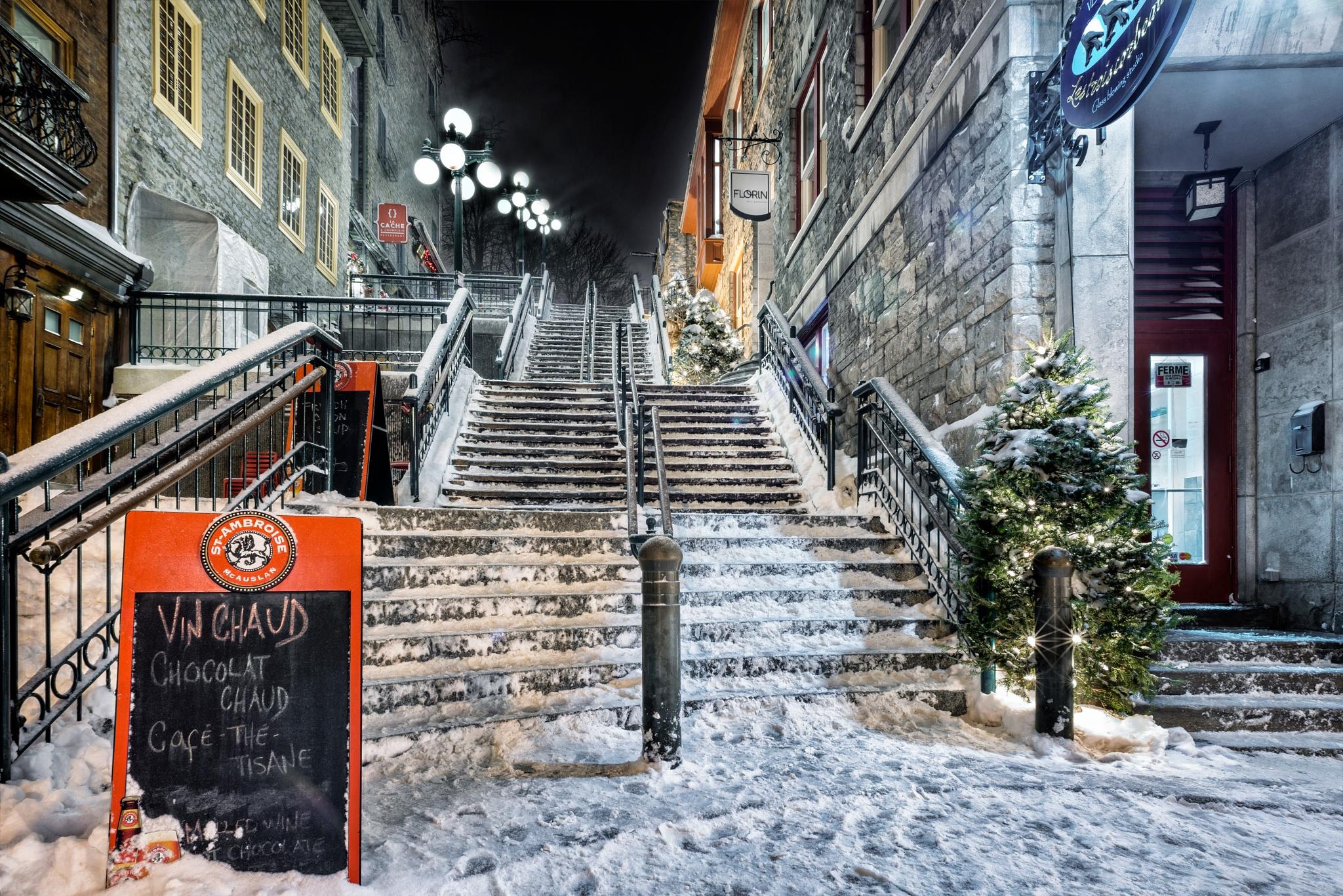 Old Quebec, Escalier Casse-cou by Clermont Poliquin