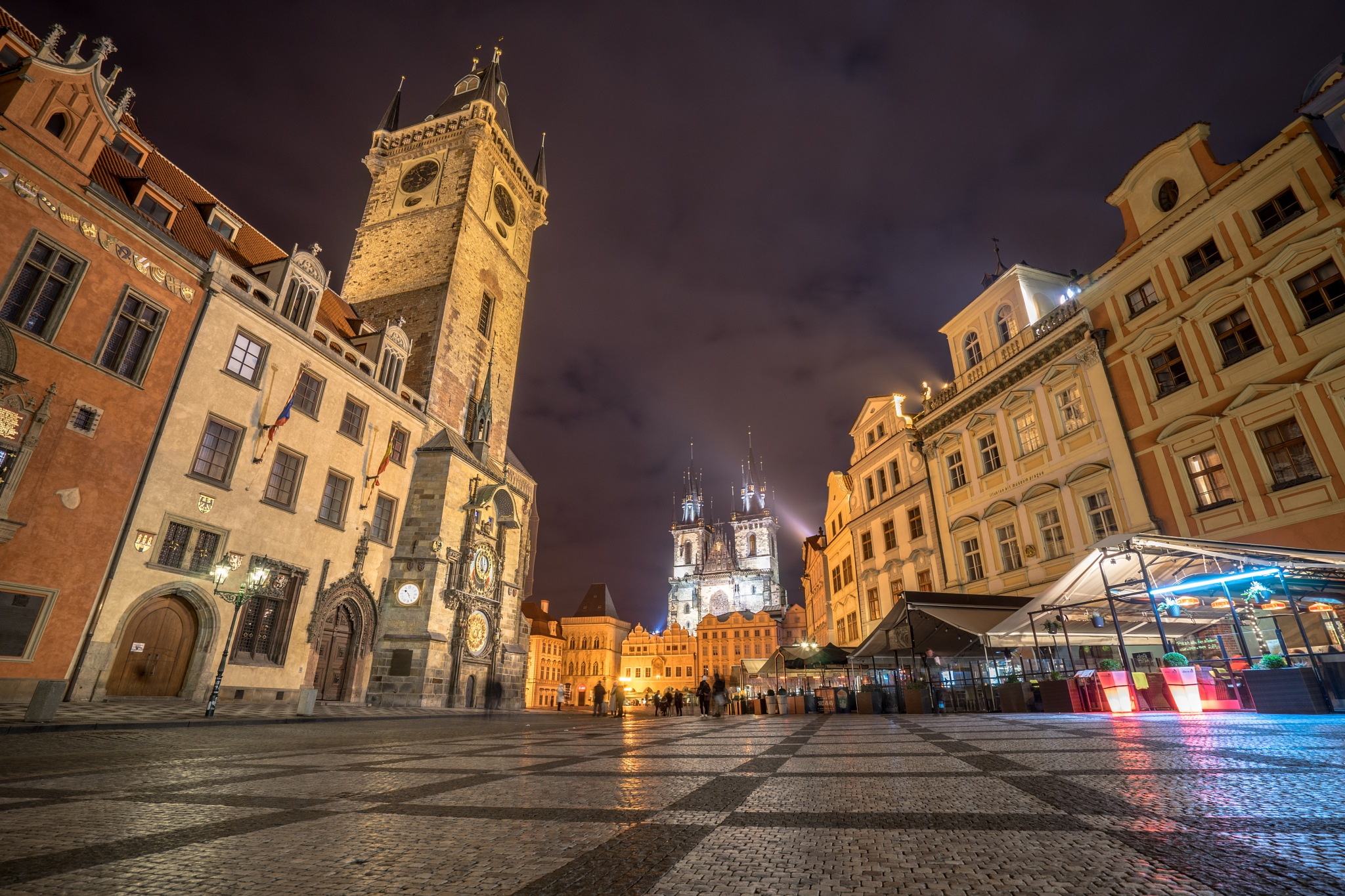 Photo in Cityscape #prague #czech republic #czech #europe #praha #bohemia #astronomical #clock #long #exposure #prague square #old town square #sony a7 #mirrorless #night photography #city #town #photography