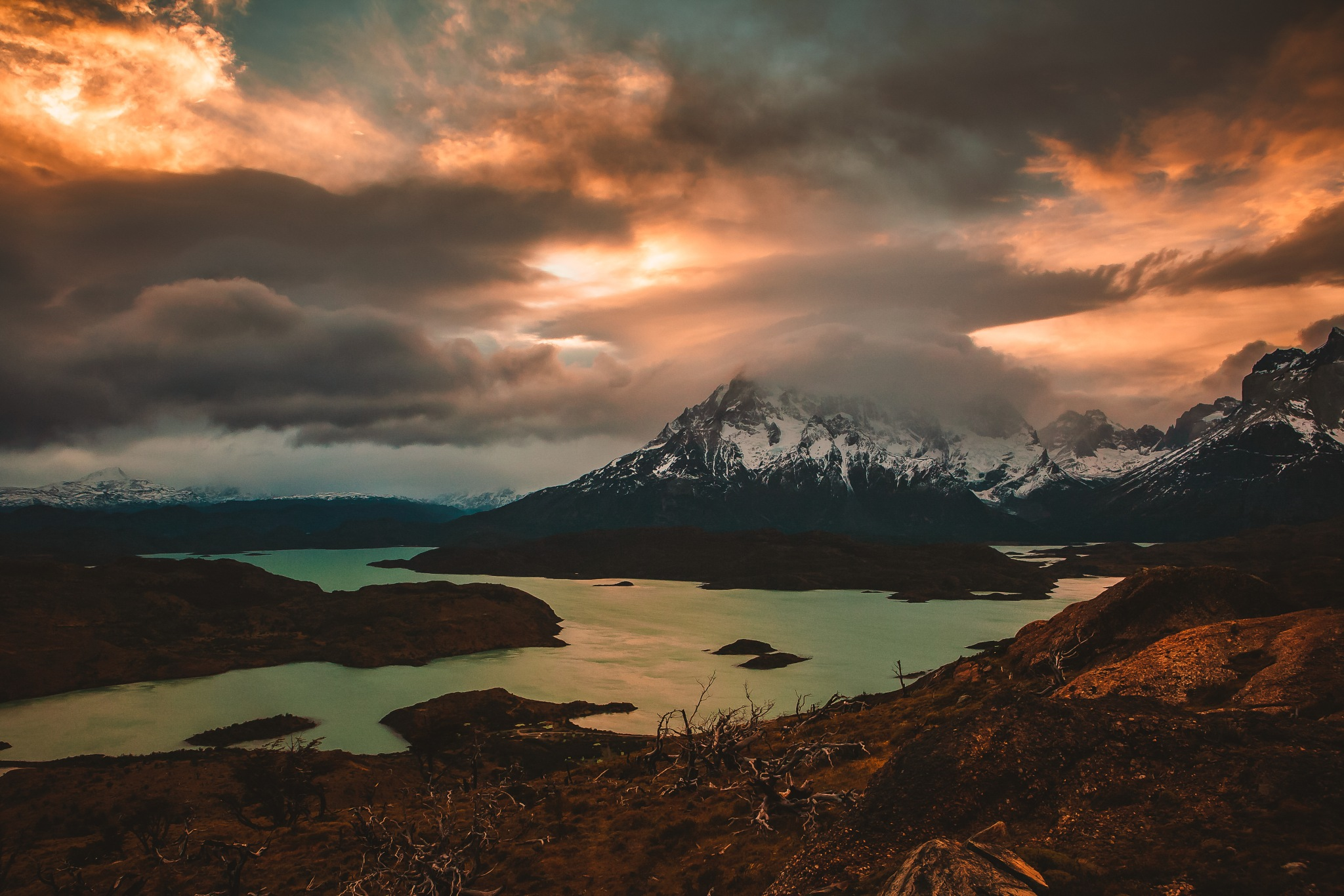 Sunset in Patagonia by David Pruter Photography