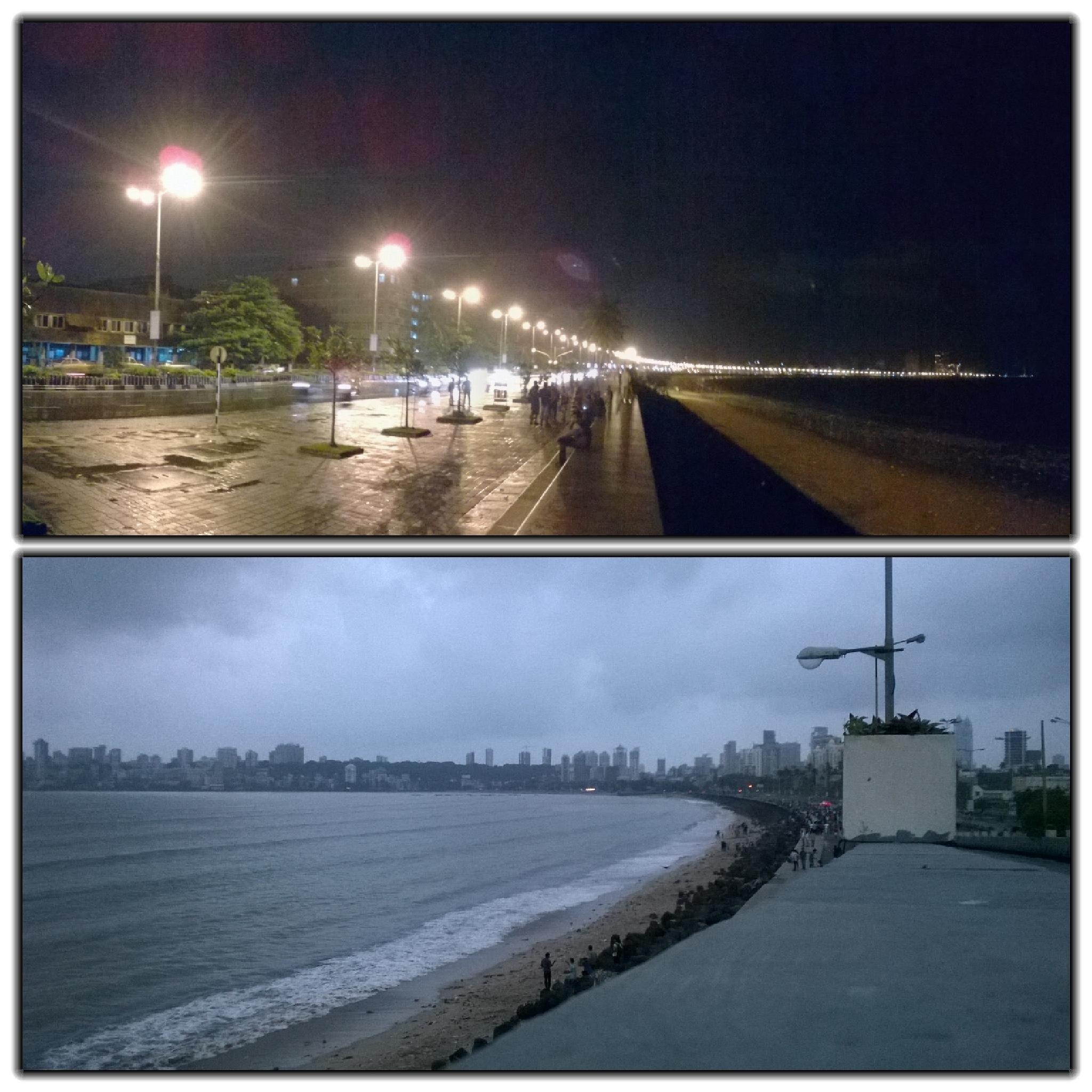 Night and Day..  At nariman. Mumbai by Jay Bhusare